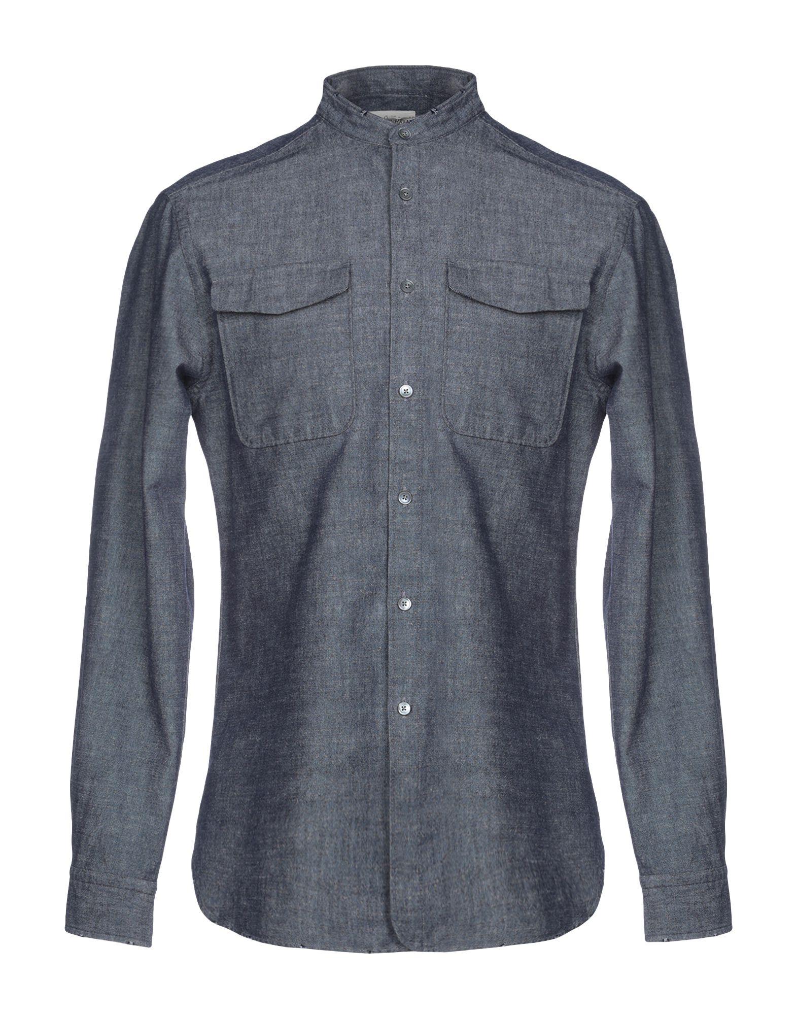 《送料無料》KENT & CURWEN メンズ デニムシャツ ブルー XS コットン 100%