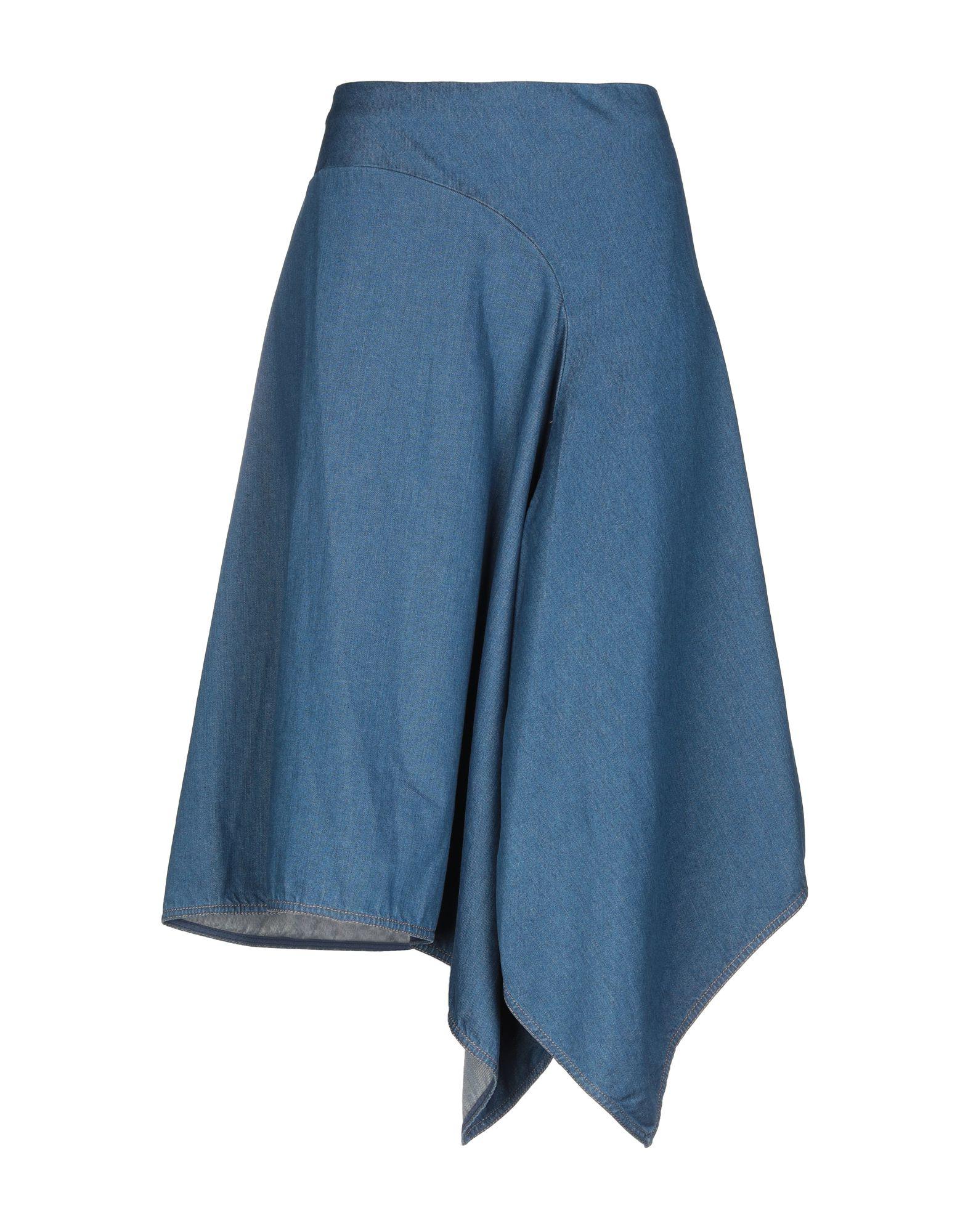 《送料無料》STELLA McCARTNEY レディース デニムスカート ブルー 46 コットン 100%