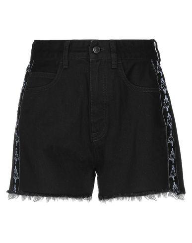 Фото - Джинсовые шорты от MARCELO BURLON x KAPPA черного цвета