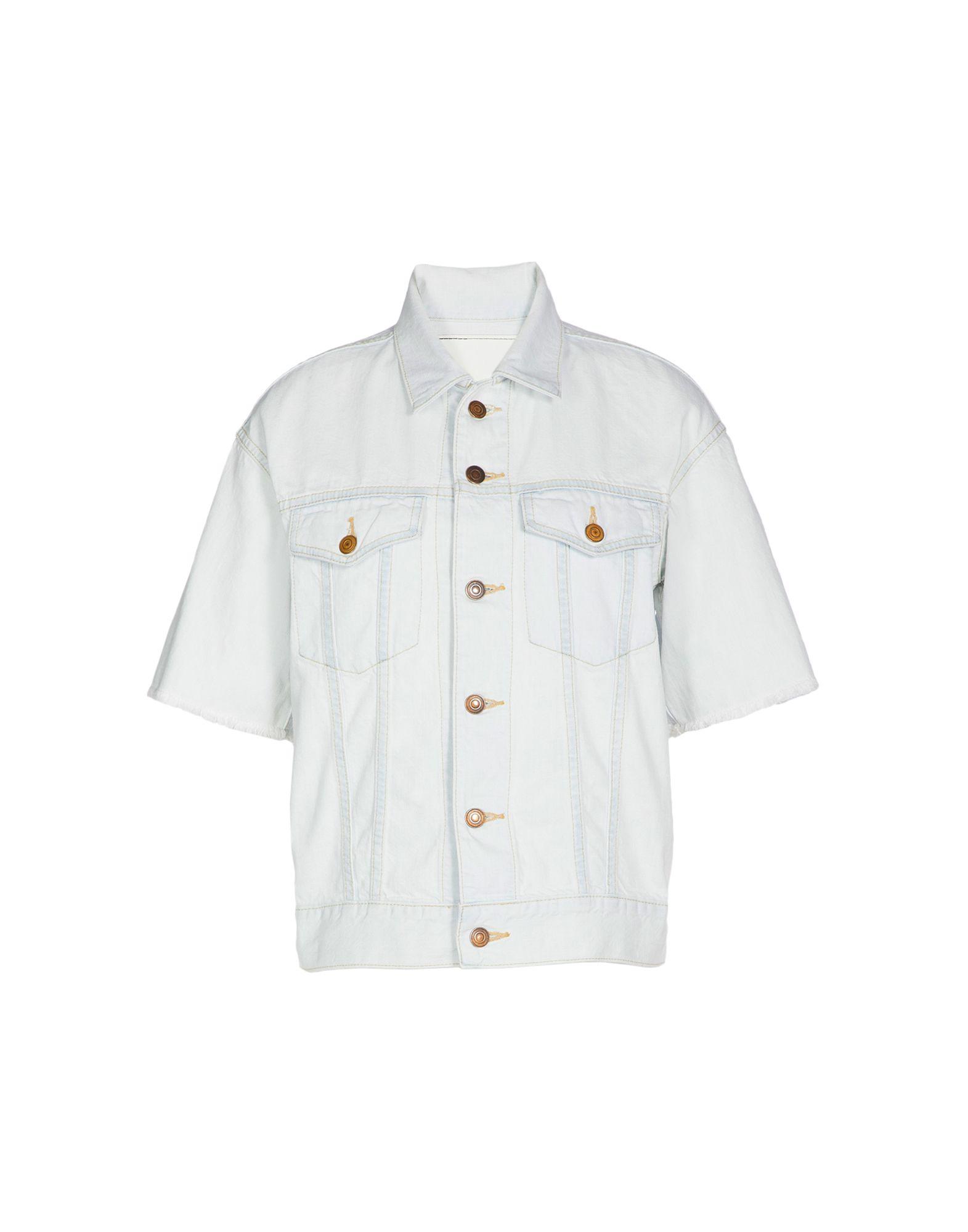цена BASSIKE Джинсовая верхняя одежда онлайн в 2017 году