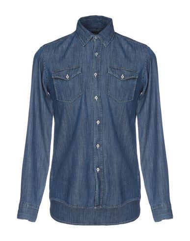 Фото - Джинсовая рубашка от HOMEWARD CLOTHES синего цвета