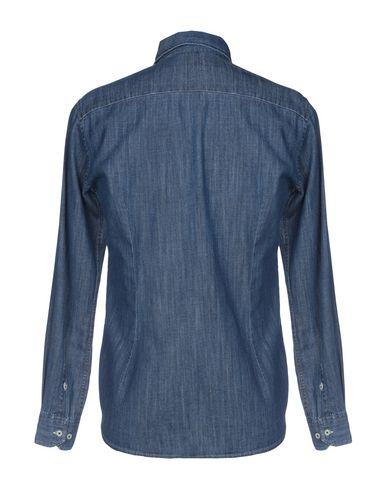 Фото 2 - Джинсовая рубашка от HOMEWARD CLOTHES синего цвета