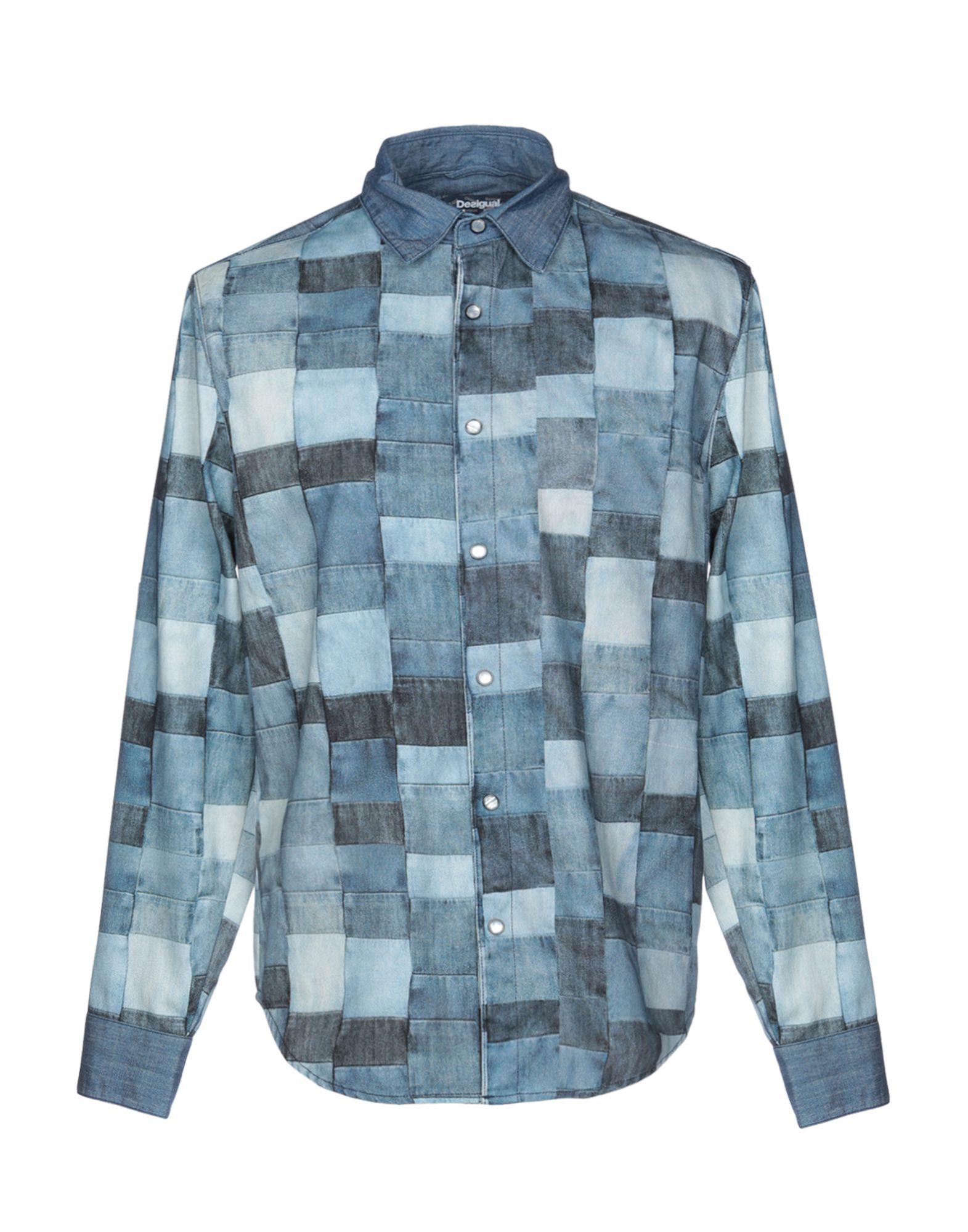 《セール開催中》DESIGUAL メンズ デニムシャツ ブルー S コットン 100%