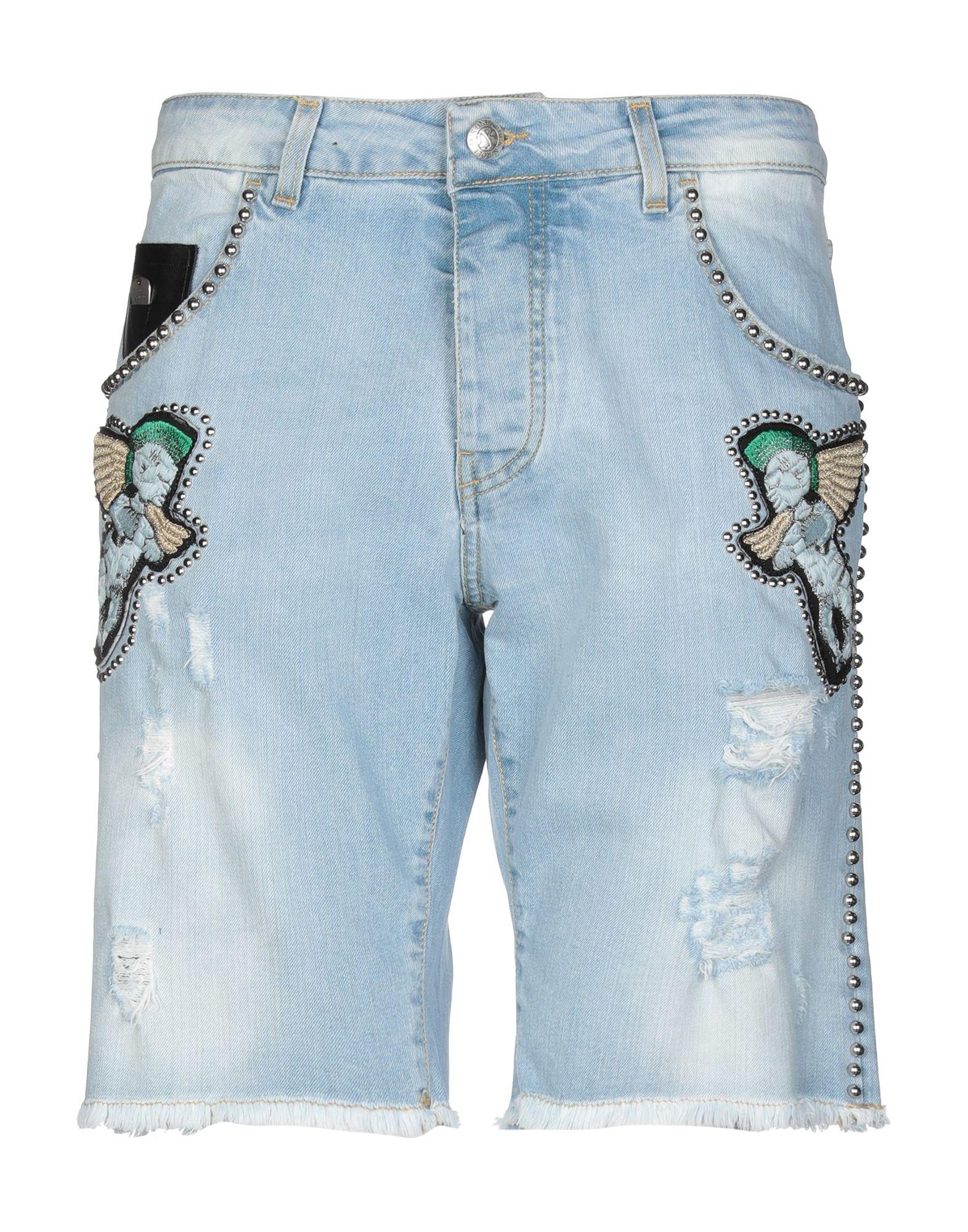 《期間限定セール中》JOHN RICHMOND メンズ デニムバミューダパンツ ブルー 32 コットン 98% / ポリウレタン 2%