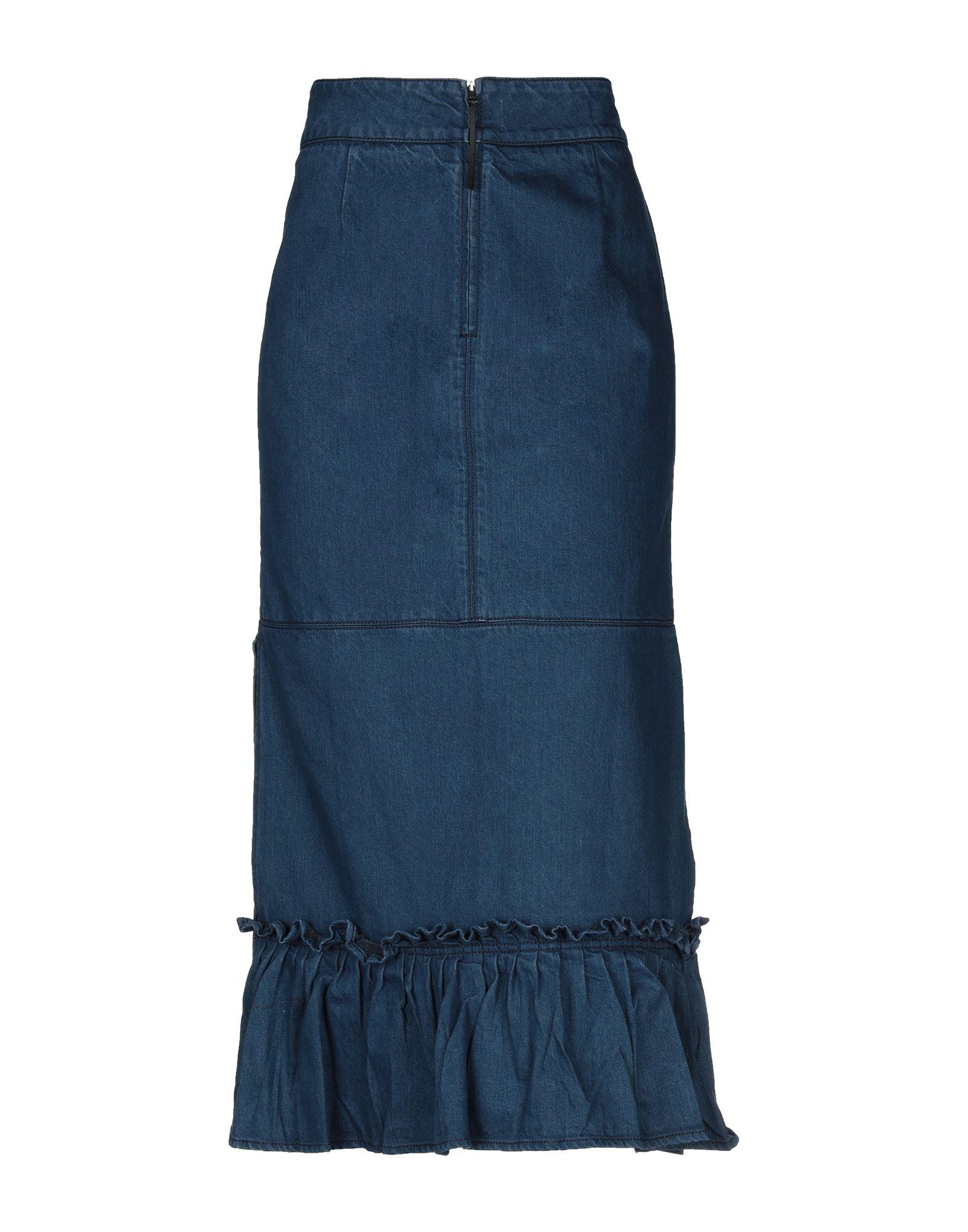 MARNI Джинсовая юбка юбка джинсовая с нагрудником и лямками barkito деним голубой