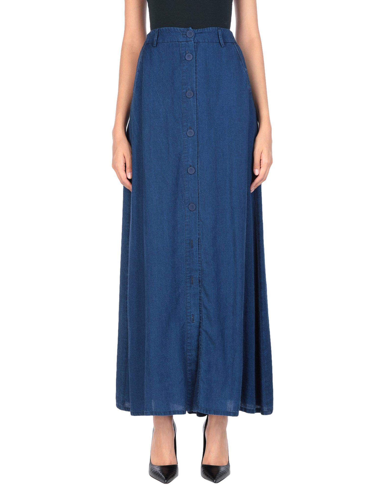 《送料無料》MARANI JEANS レディース デニムスカート ブルー 40 テンセル 100%