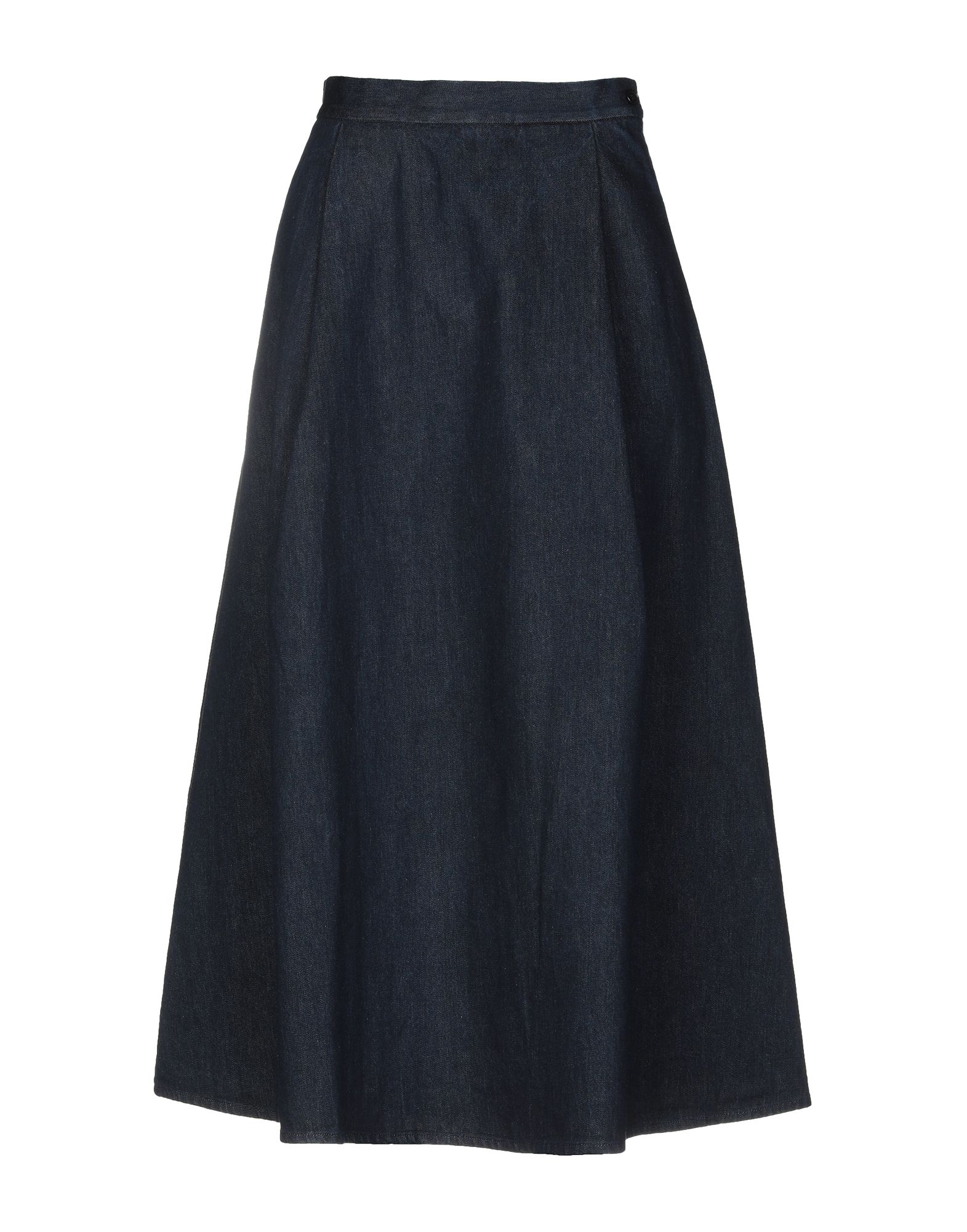 《送料無料》BARENA レディース デニムスカート ブルー 42 コットン 100%