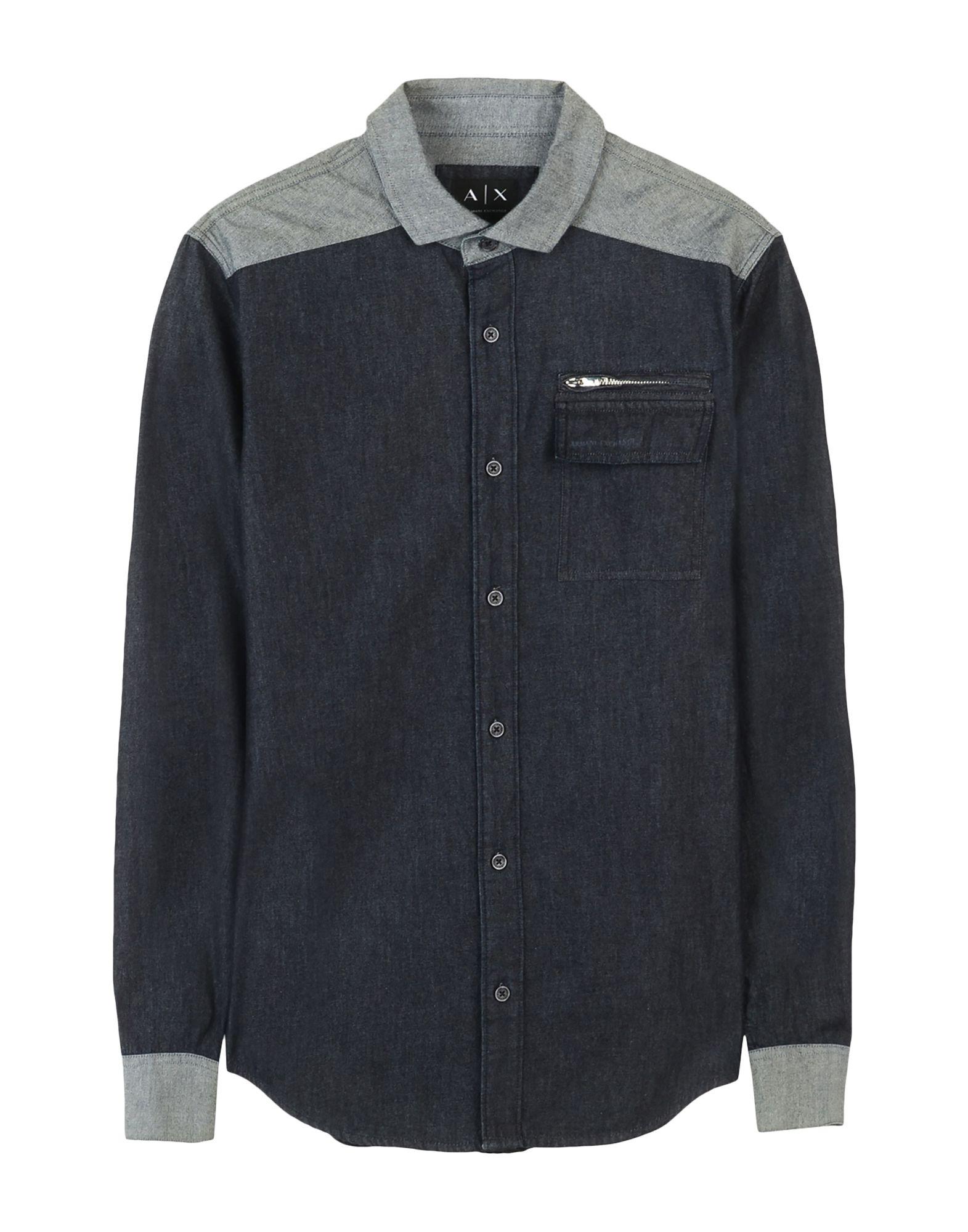 ARMANI EXCHANGE Джинсовая рубашка рубашка armani exchange 3zzc49 zndez 0118