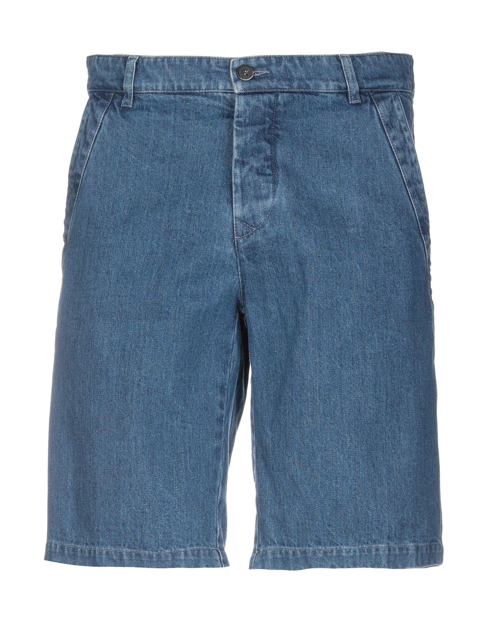 《期間限定セール中》BARENA メンズ デニムバミューダパンツ ブルー 50 コットン 100%