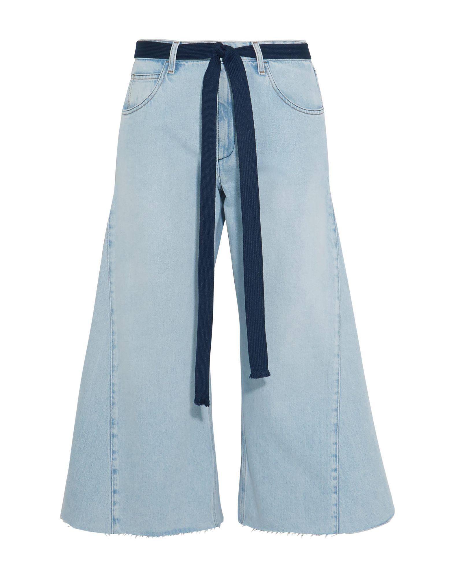 《セール開催中》SONIA RYKIEL レディース デニムカプリパンツ ブルー 40 コットン 100%