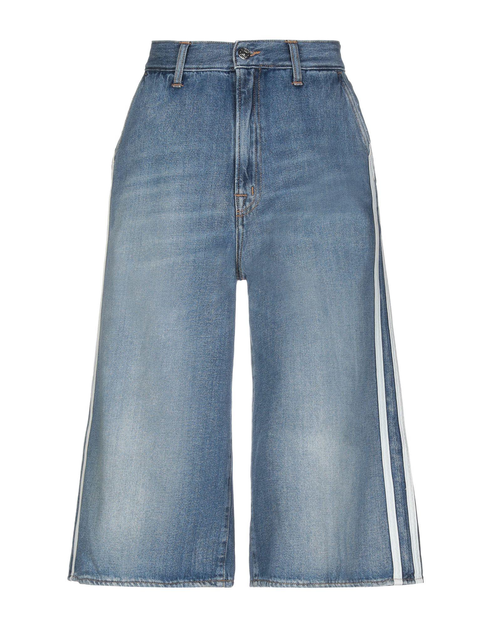(+) PEOPLE Джинсовые брюки-капри цена 2017