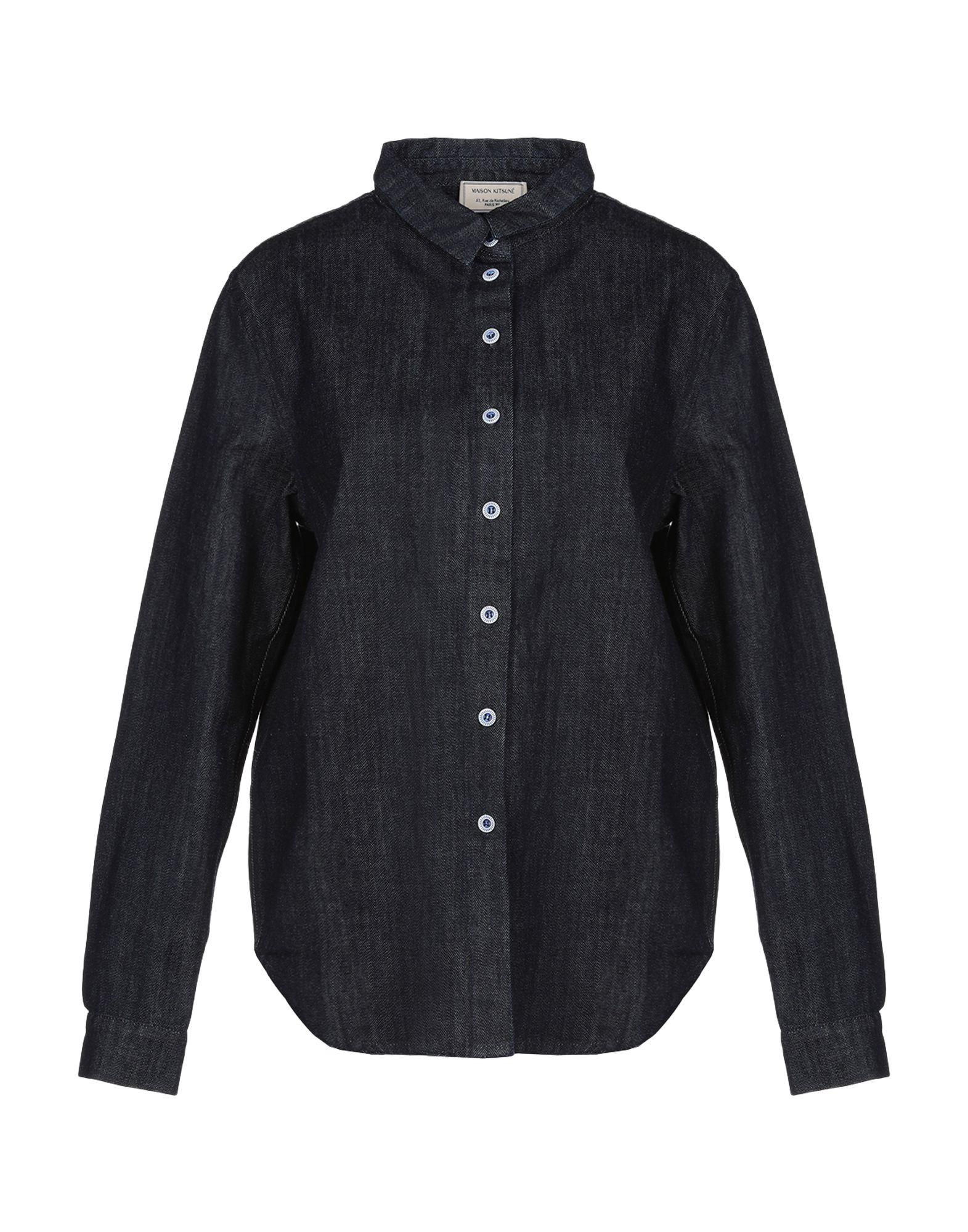 MAISON KITSUNÉ Джинсовая рубашка цена 2017