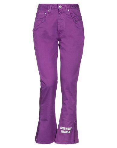 Купить Повседневные брюки от MSGM фиолетового цвета