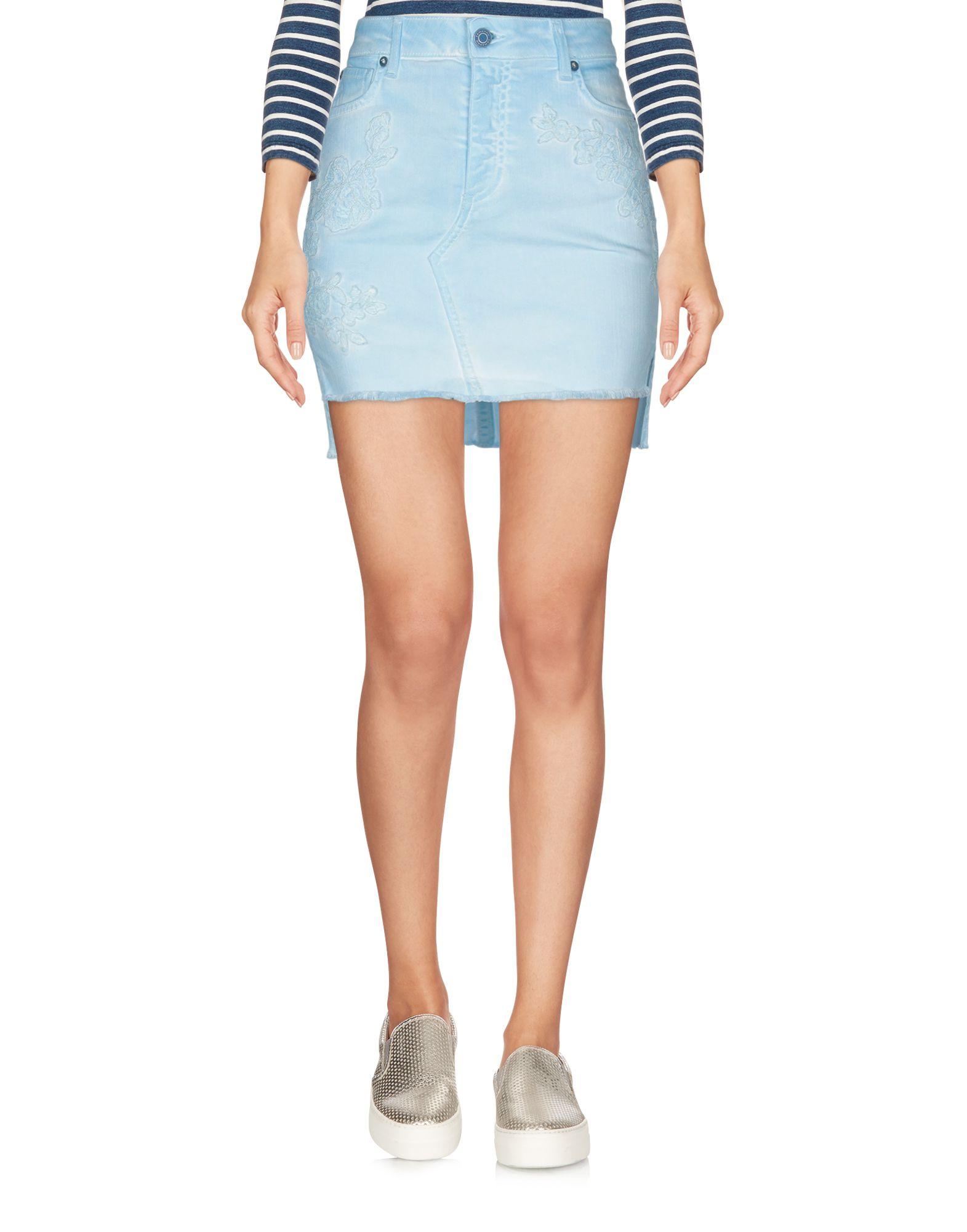 Фото - ERMANNO DI ERMANNO SCERVINO Джинсовая юбка ermanno di ermanno scervino джинсовая юбка