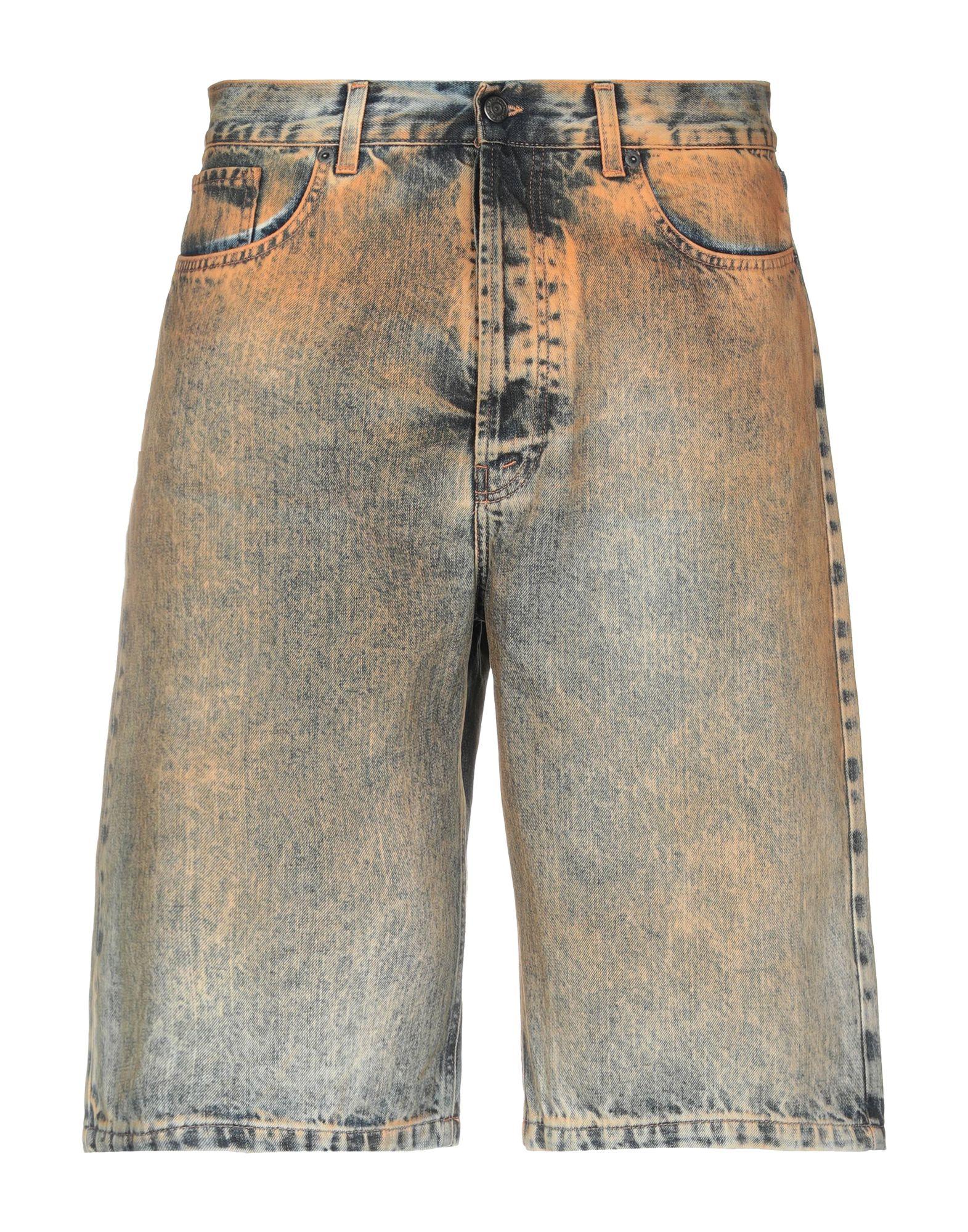 《期間限定セール中》PAURA メンズ デニムバミューダパンツ ブルー 46 コットン 100%