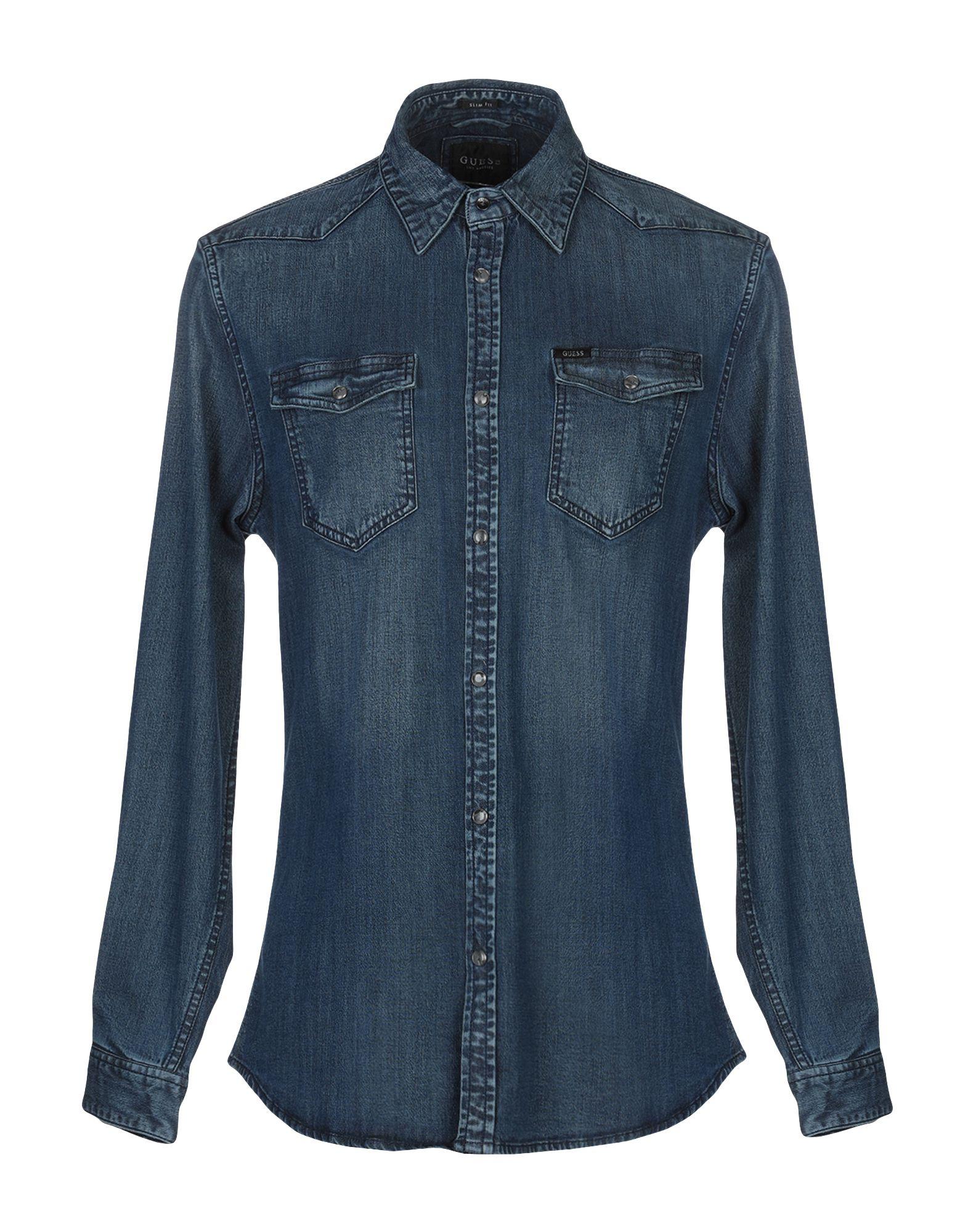 GUESS Джинсовая рубашка рубашка джинсовая guess guess gu460ebcfrs9