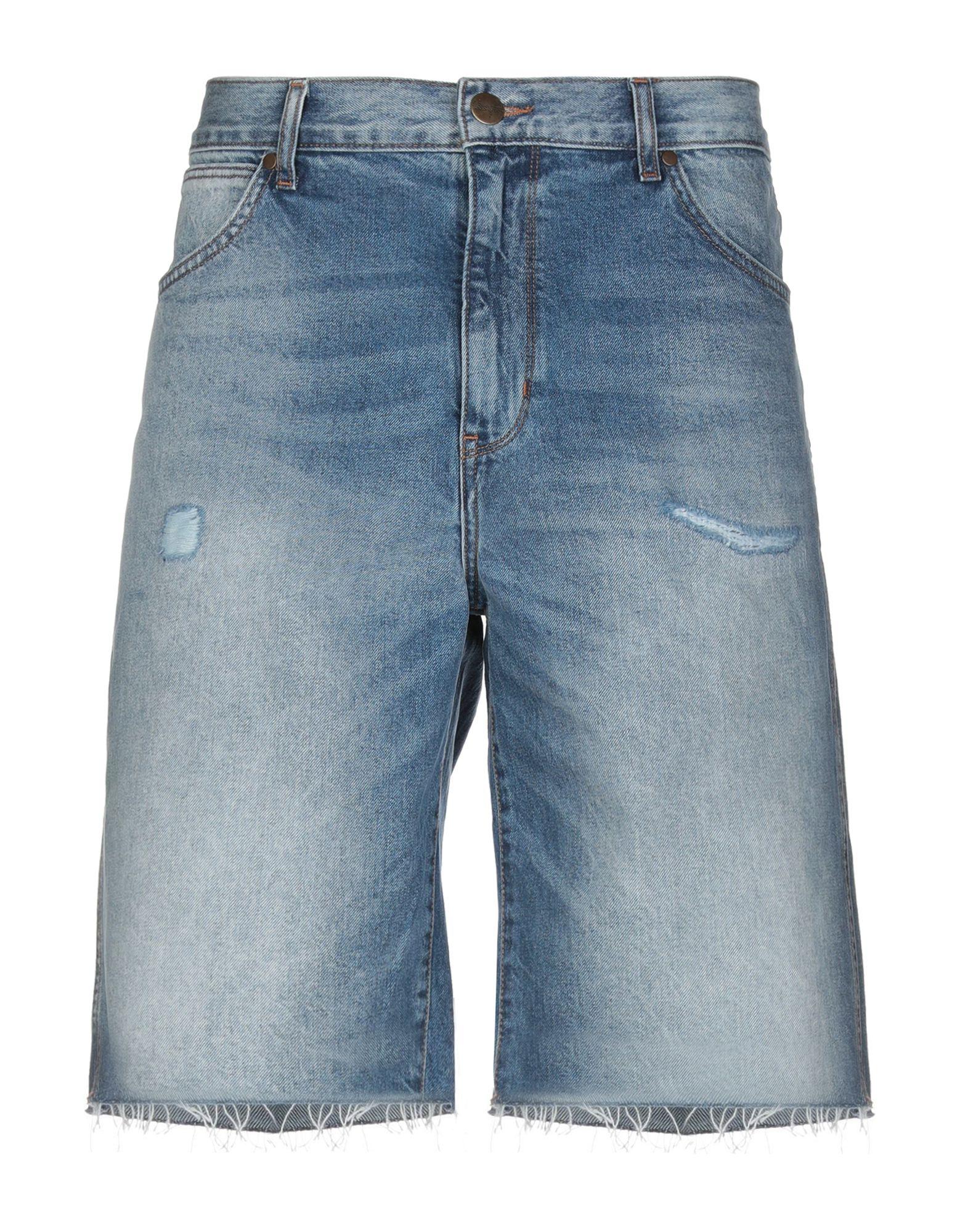 《セール開催中》WRANGLER メンズ デニムバミューダパンツ ブルー 30 コットン 100%
