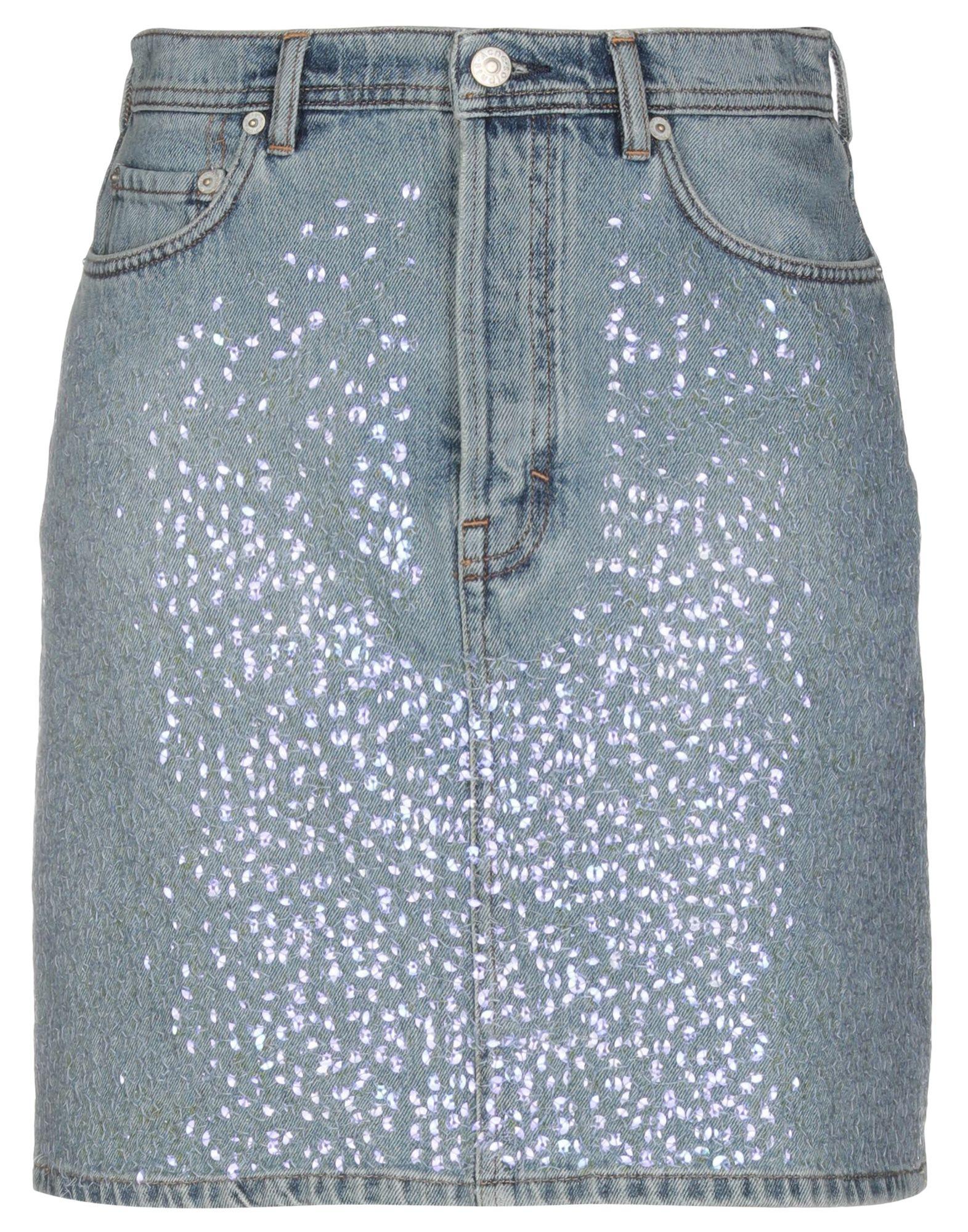 ACNE STUDIOS Джинсовая юбка vinemo vorneoco корейская версия высокой талии слот пакет юбка джинсовая юбка юбка юбка r1540 серый xl