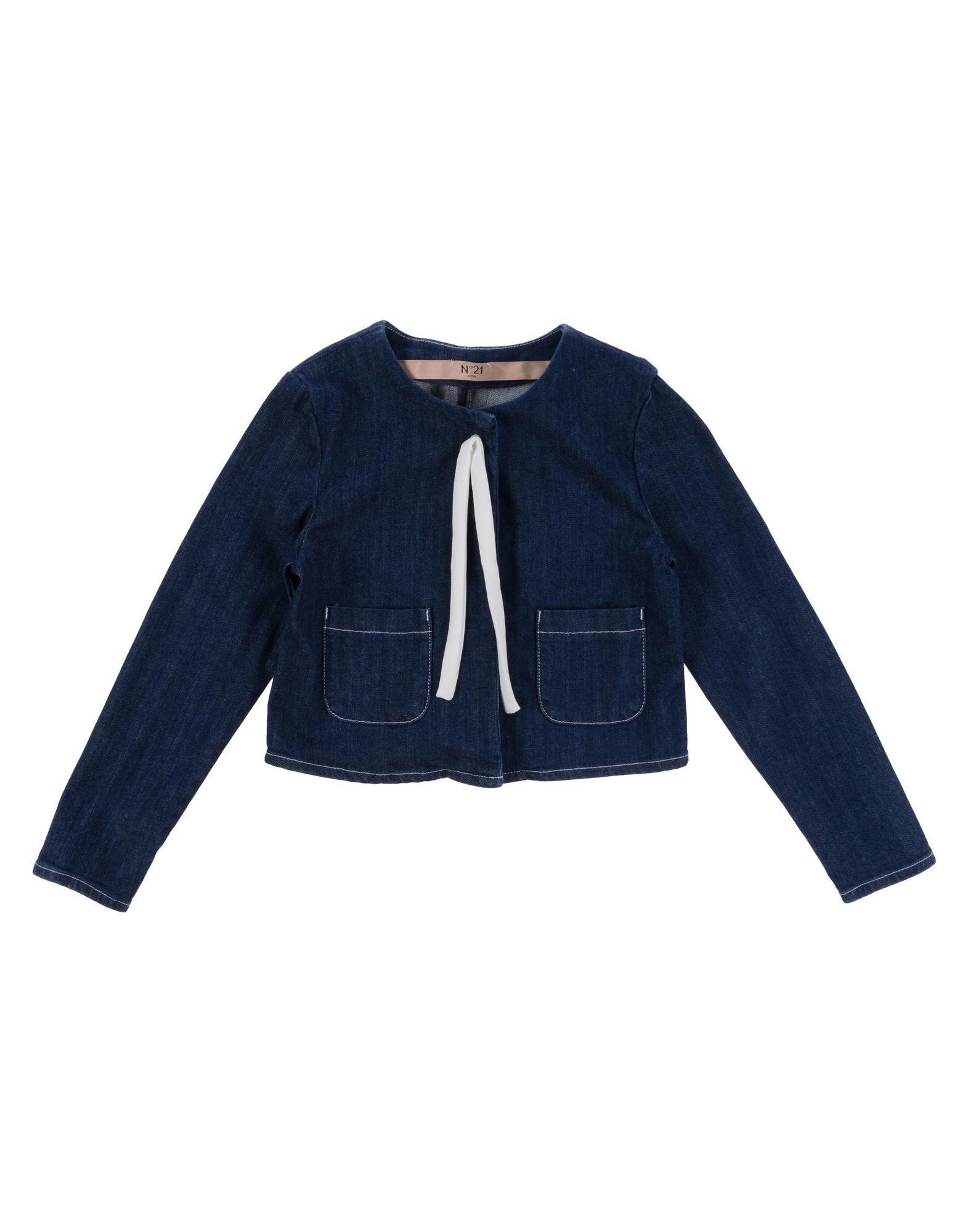 N°21 Mädchen 3-8 jahre Jeansjacke -mantel4 blau