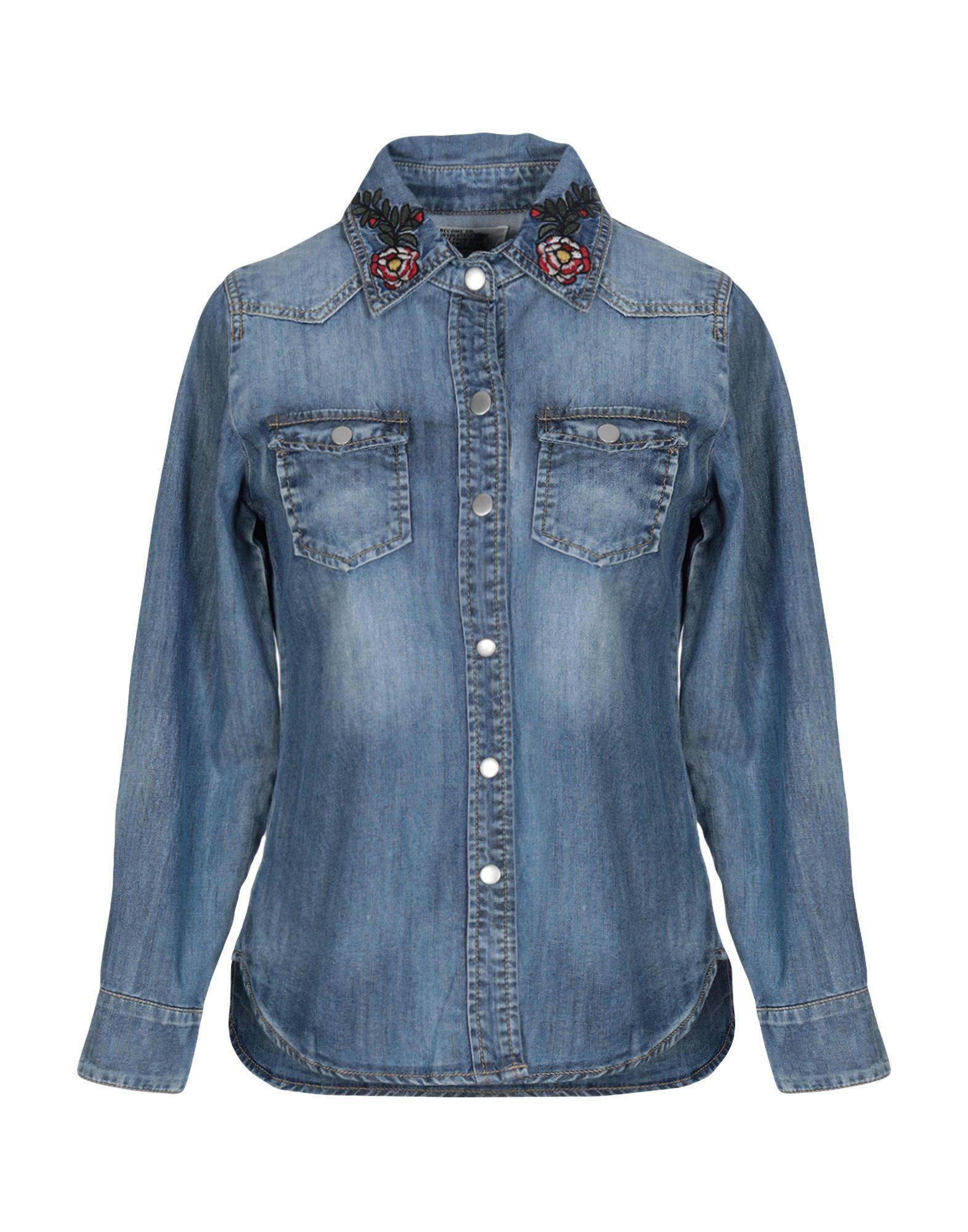ANDREA MORANDO Джинсовая рубашка цена и фото