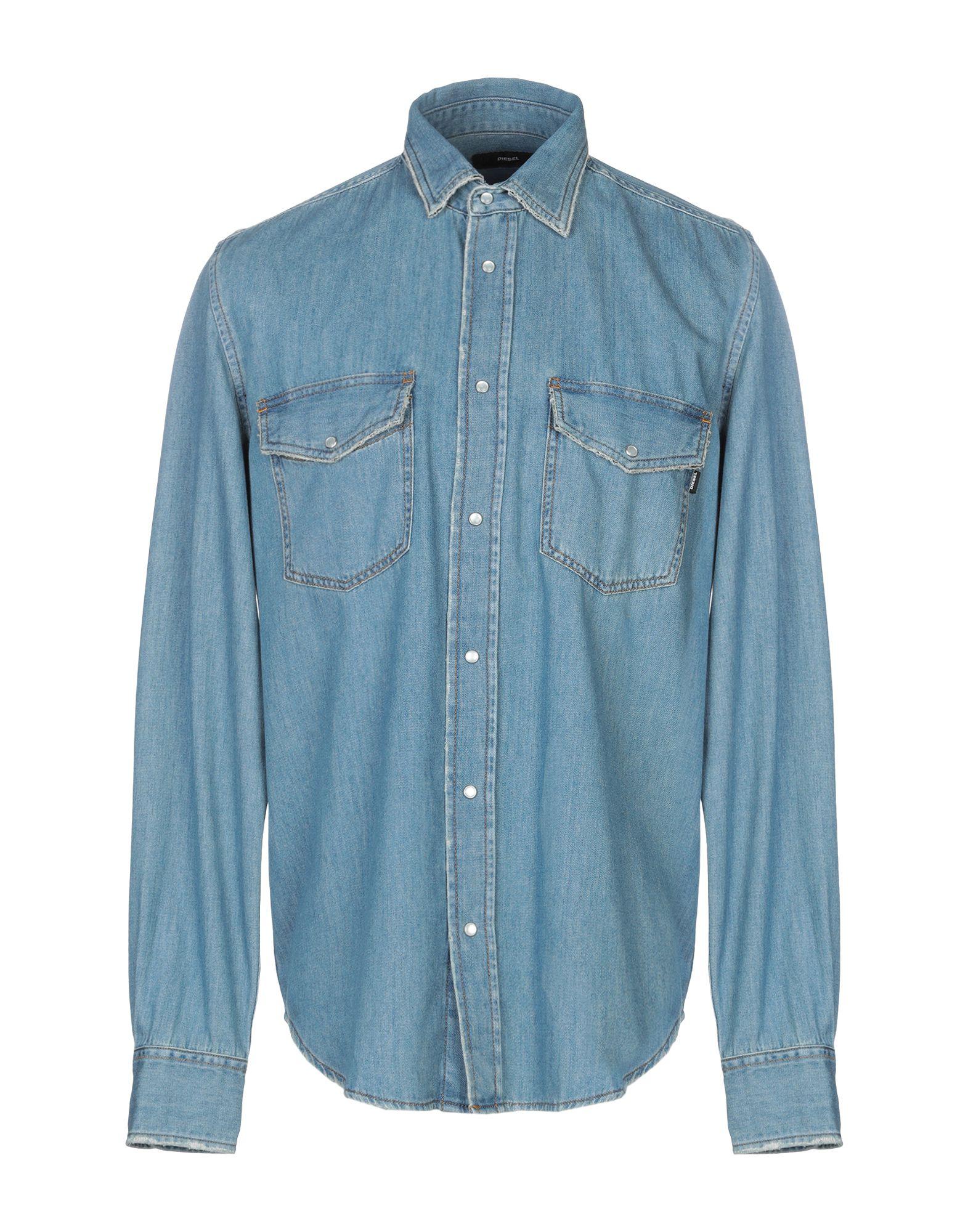 DIESEL Джинсовая рубашка недорго, оригинальная цена