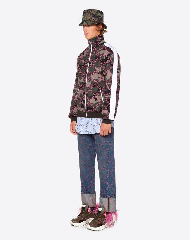 VLTN Grid 印纹宽松牛仔裤