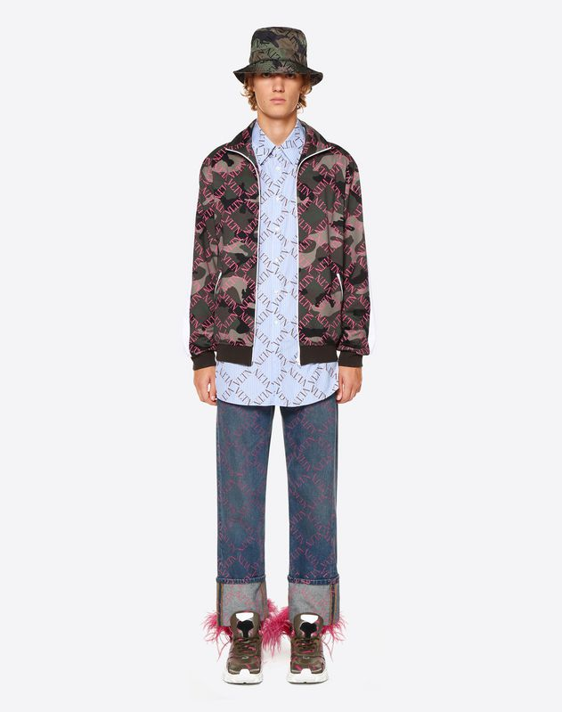 DENIM BAGGY IMPRIMÉ VLTN GRID