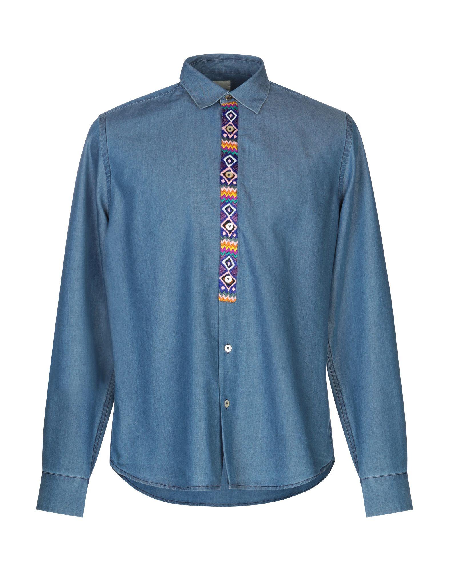 PAUL SMITH Джинсовая рубашка рубашка paul smith рубашки однотонные