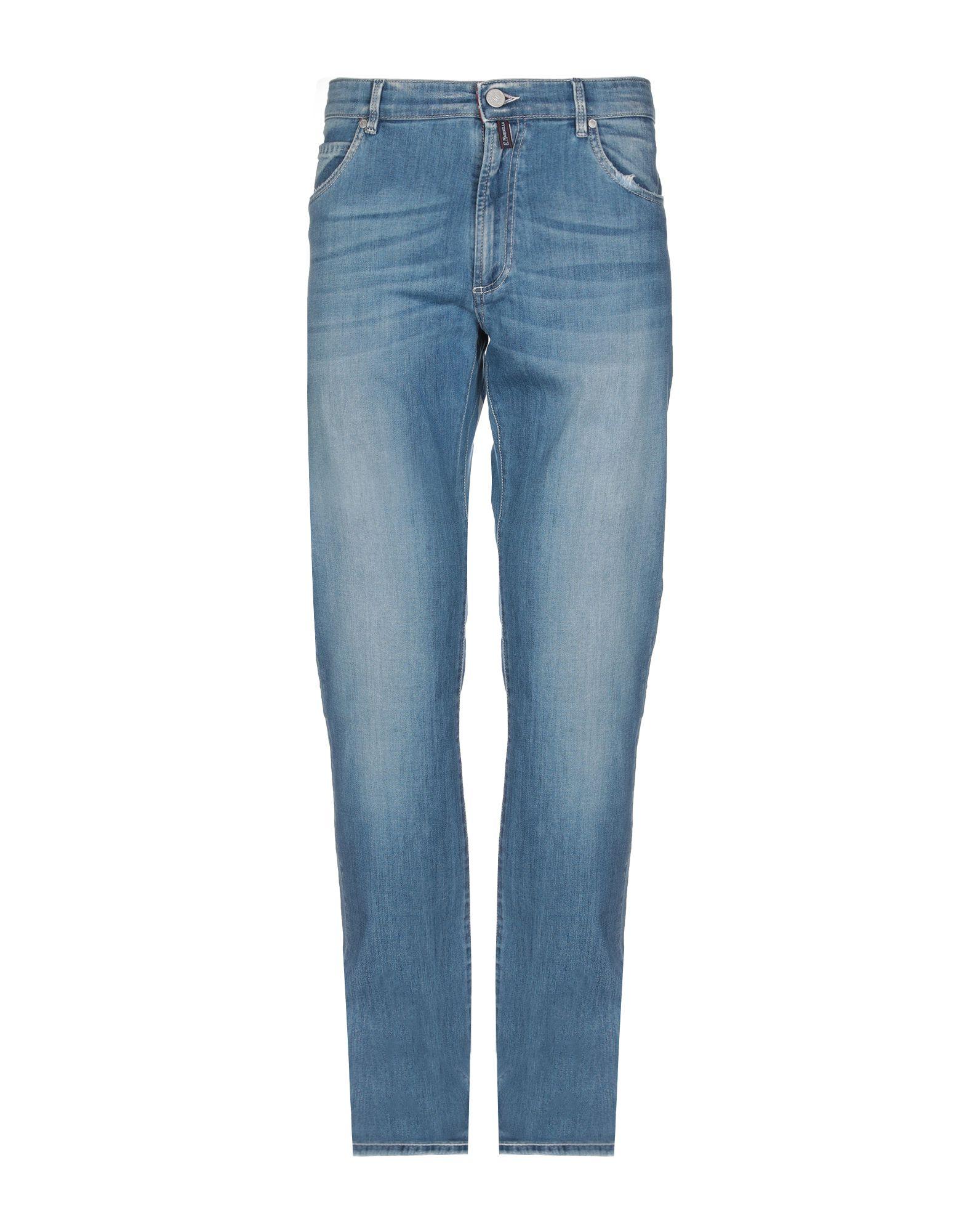 《期間限定 セール開催中》E.MARINELLA メンズ ジーンズ ブルー 40 コットン 98% / ポリウレタン 2%