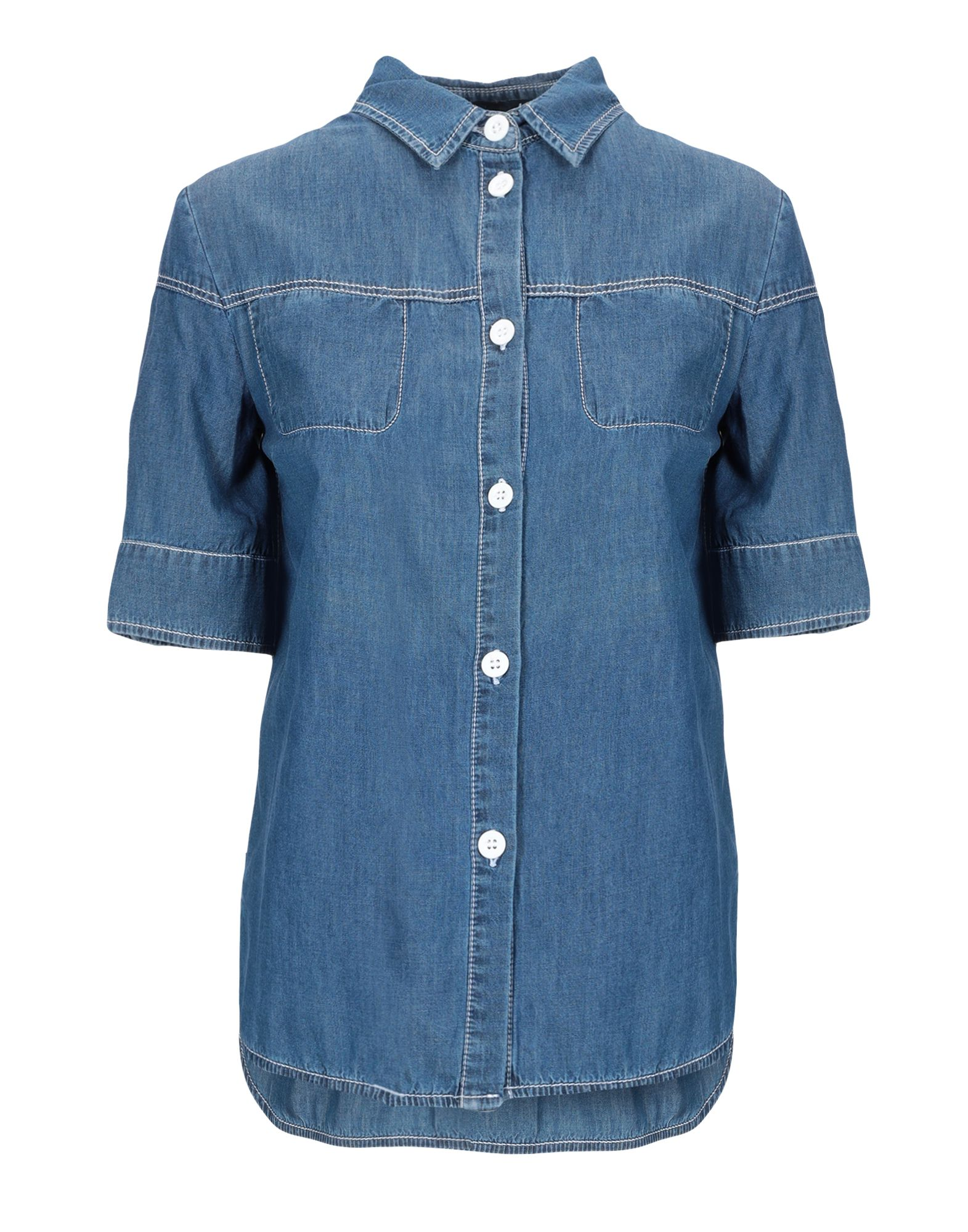 BLUE LES COPAINS Джинсовая рубашка sunspice ms blue классический