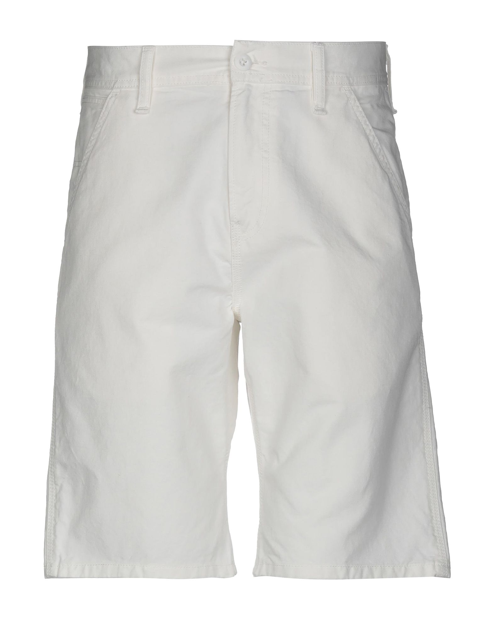 《セール開催中》CARHARTT メンズ デニムバミューダパンツ ホワイト 31 コットン 100%