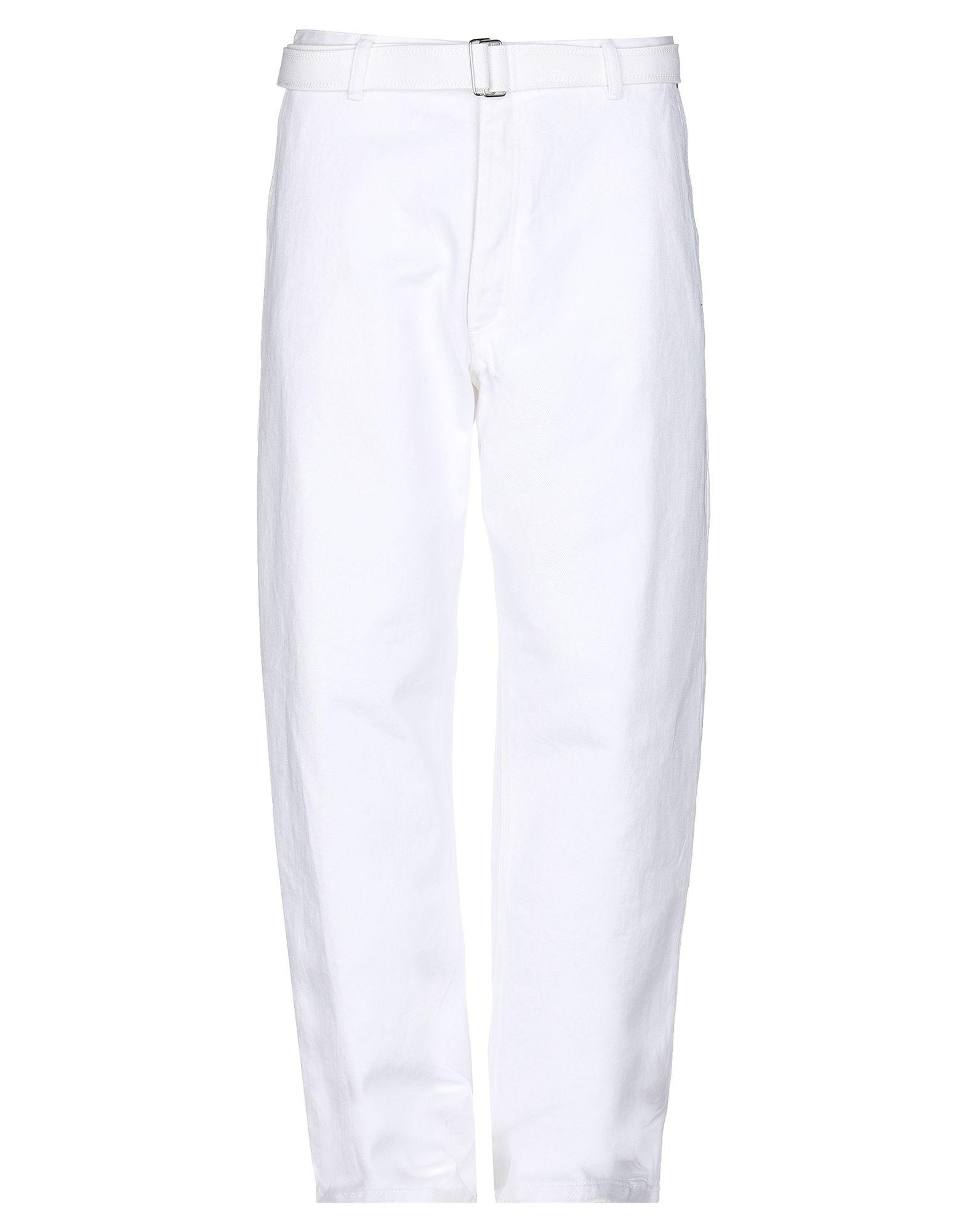 《期間限定セール開催中!》AMI ALEXANDRE MATTIUSSI メンズ ジーンズ ホワイト 34 コットン 100%