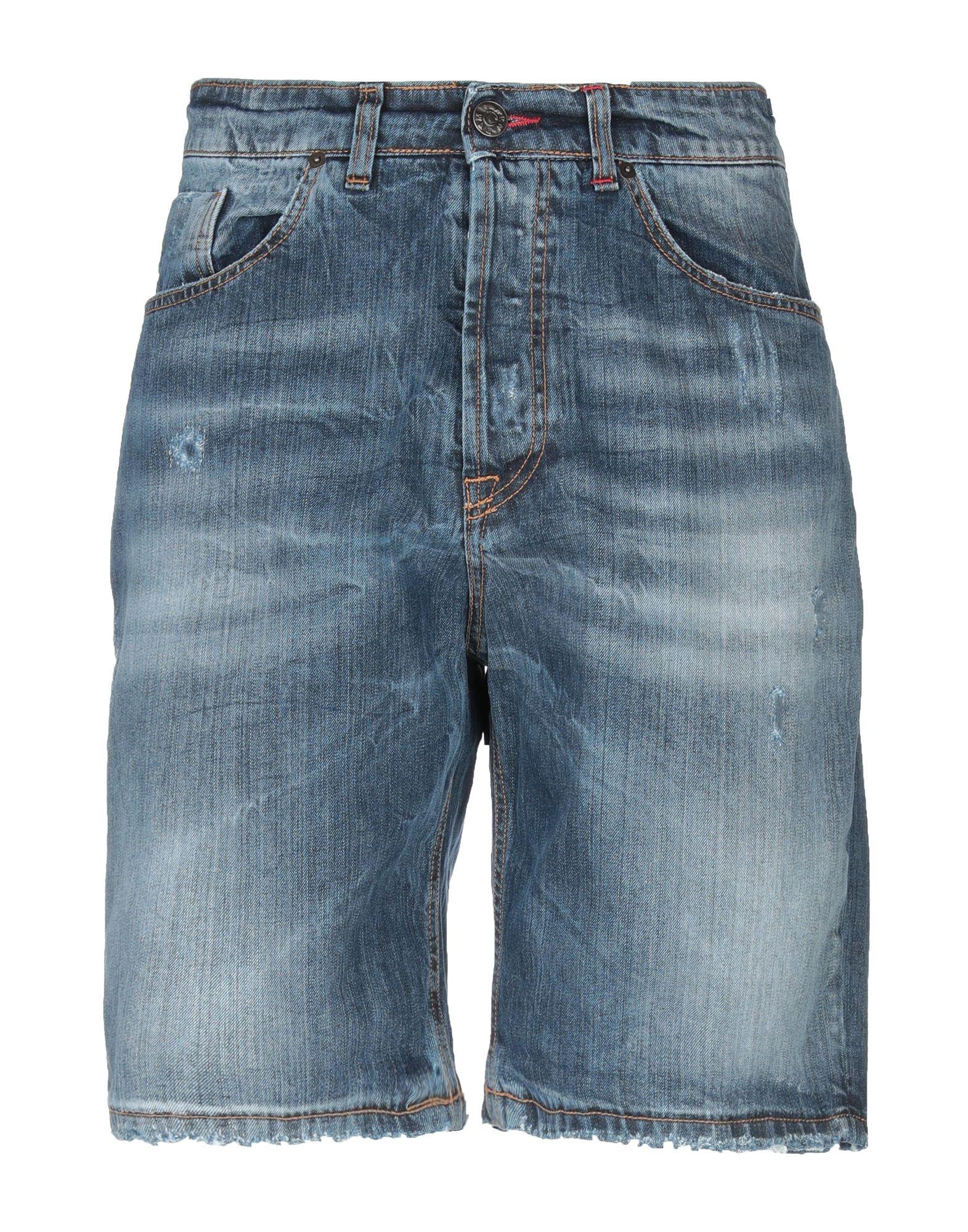 《セール開催中》BERNA メンズ デニムバミューダパンツ ブルー 46 コットン 100%