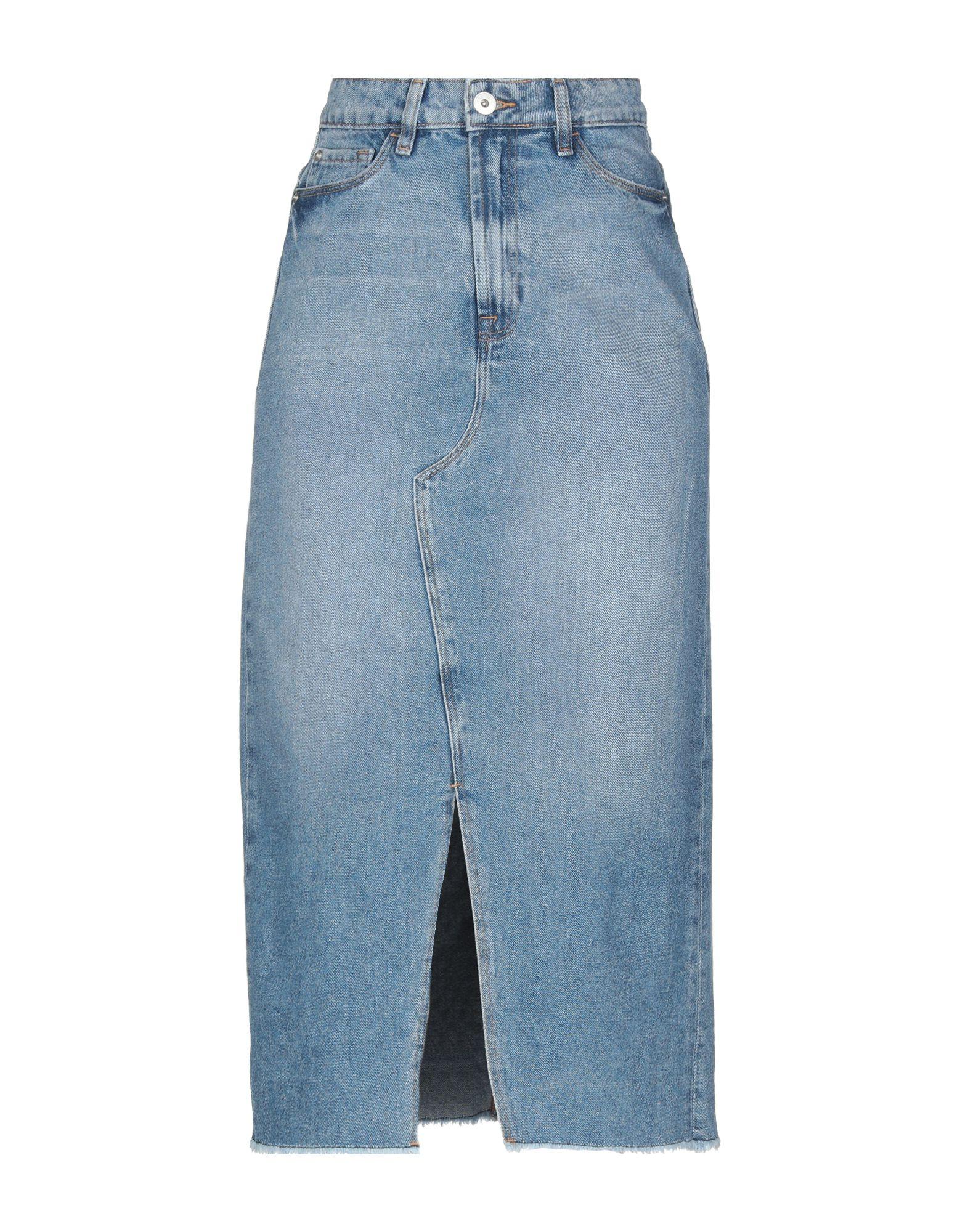 《送料無料》ICHI レディース デニムスカート ブルー 34 コットン 100%