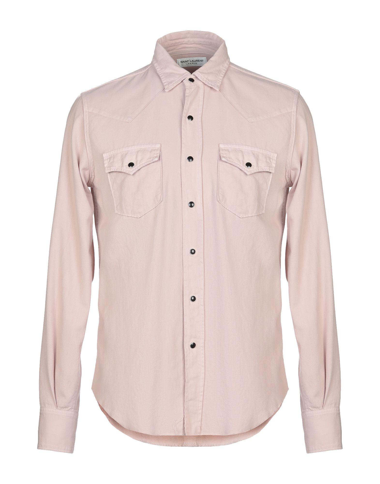 SAINT LAURENT Джинсовая рубашка цена 2017