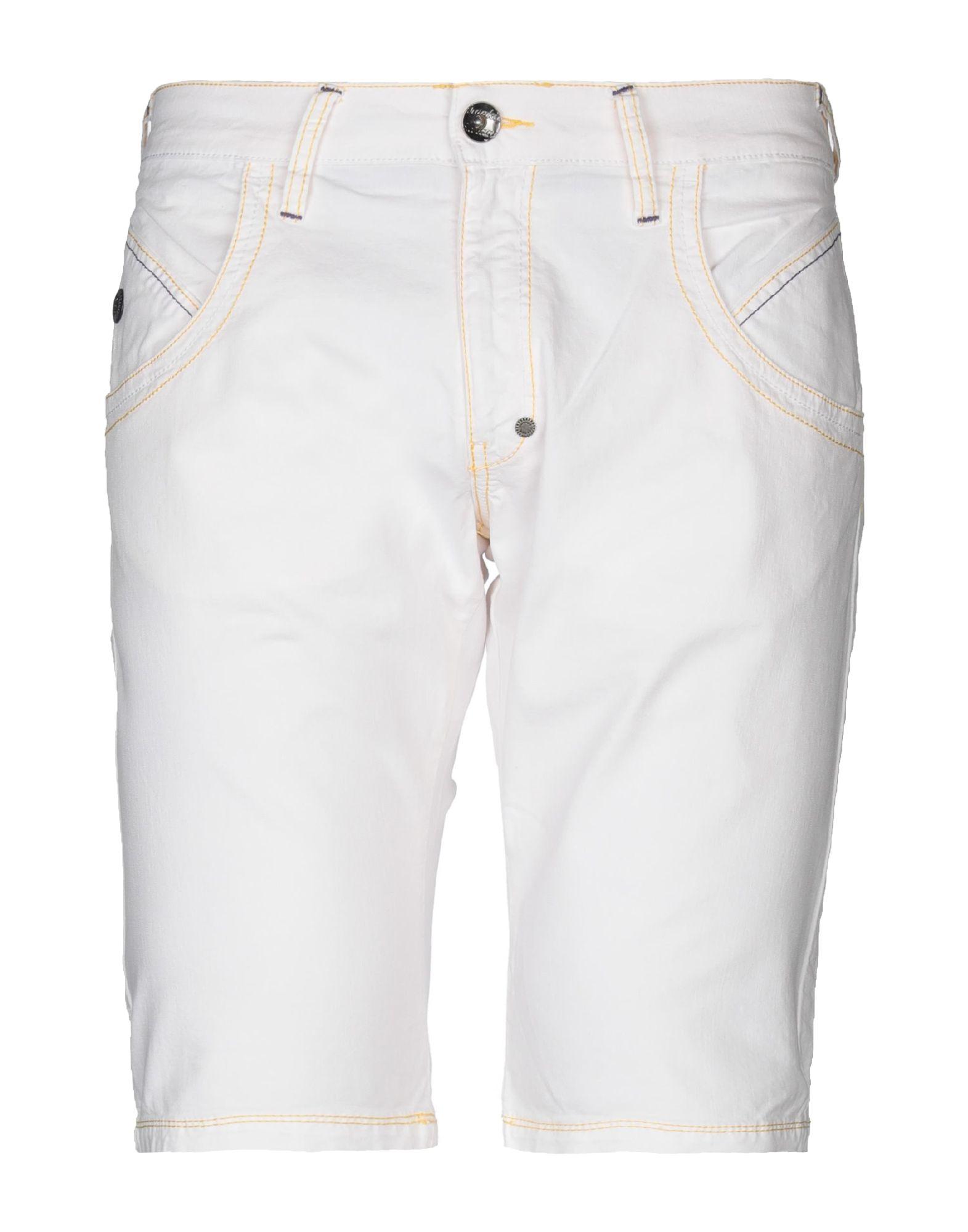 《期間限定セール中》FRANKIE GARAGE メンズ デニムバミューダパンツ ホワイト 36 コットン 100%