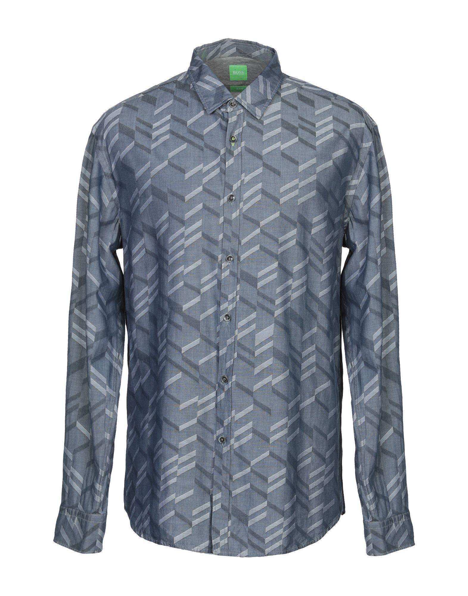 BOSS GREEN Джинсовая рубашка jaguar часы jaguar j616 1 коллекция acamar