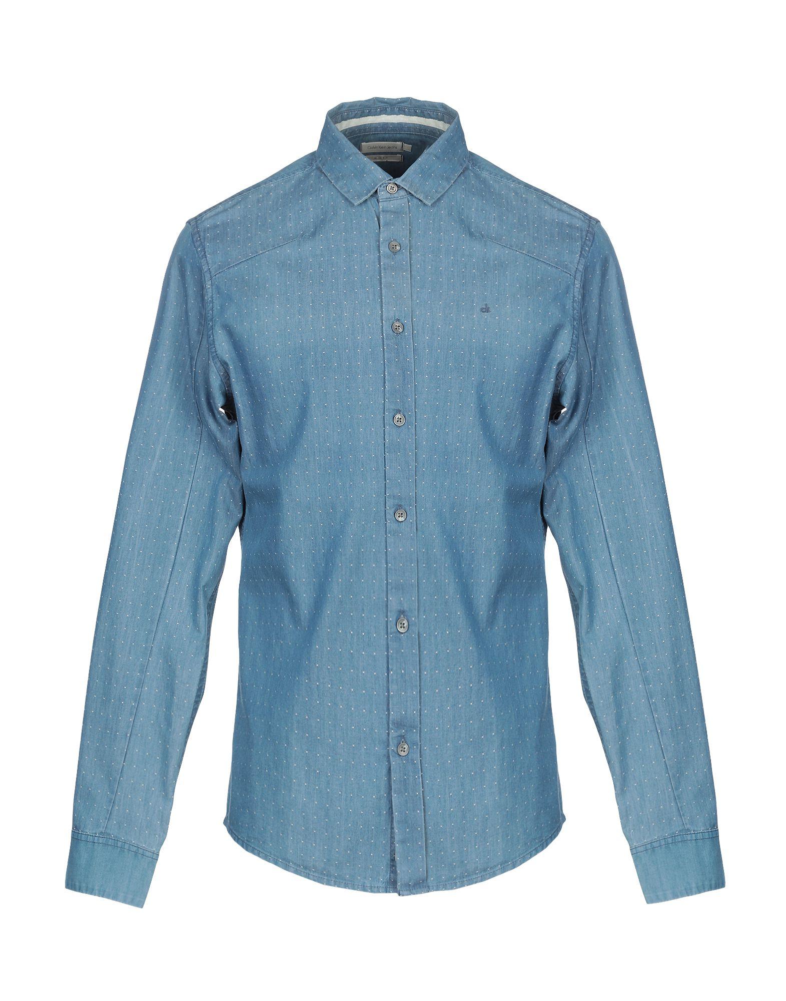 CALVIN KLEIN JEANS Джинсовая рубашка рубашка calvin klein jeans j20j2 06431 1120