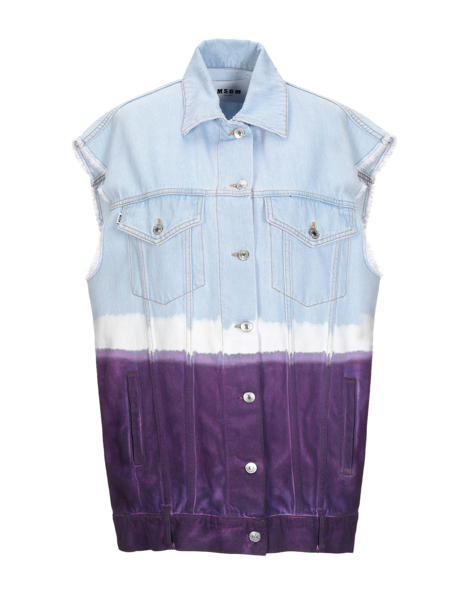 MSGM Джинсовая верхняя одежда