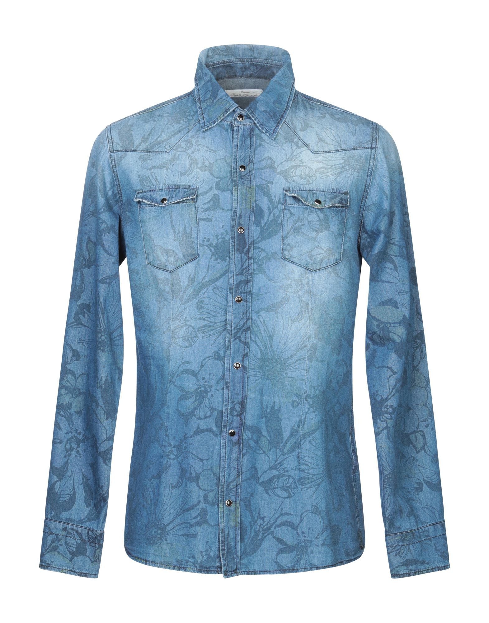 Фото - DANIELE ALESSANDRINI HOMME Джинсовая рубашка daniele alessandrini homme кардиган