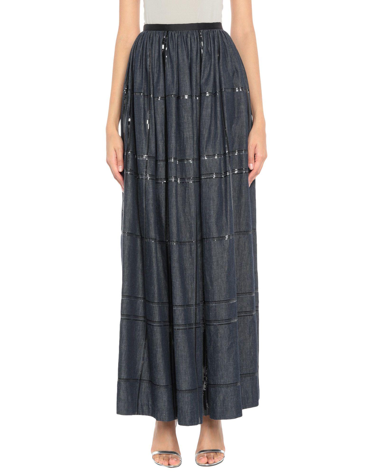 《送料無料》BRUNELLO CUCINELLI レディース デニムスカート ブルー 40 コットン 100%