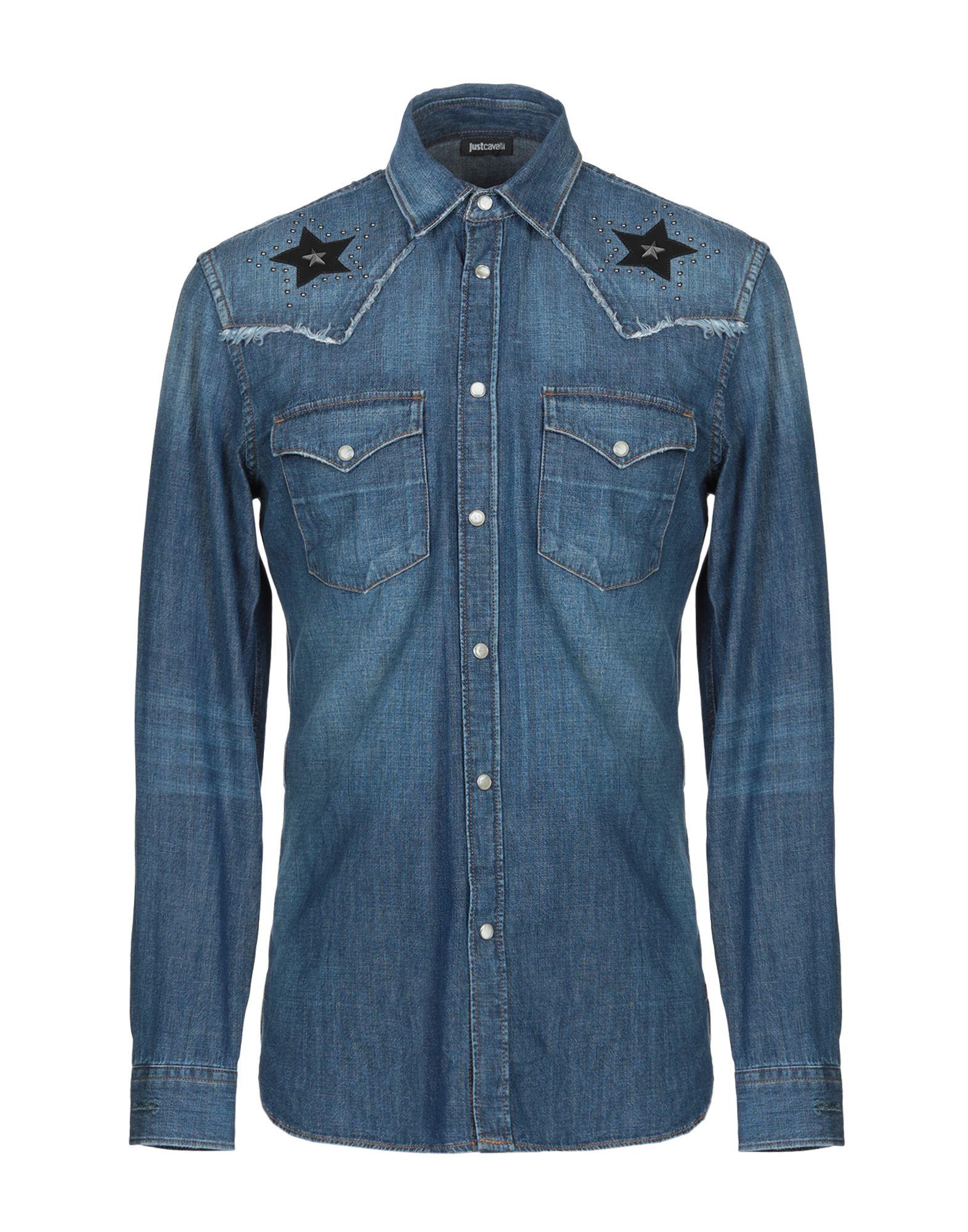 JUST CAVALLI Джинсовая рубашка цена 2017