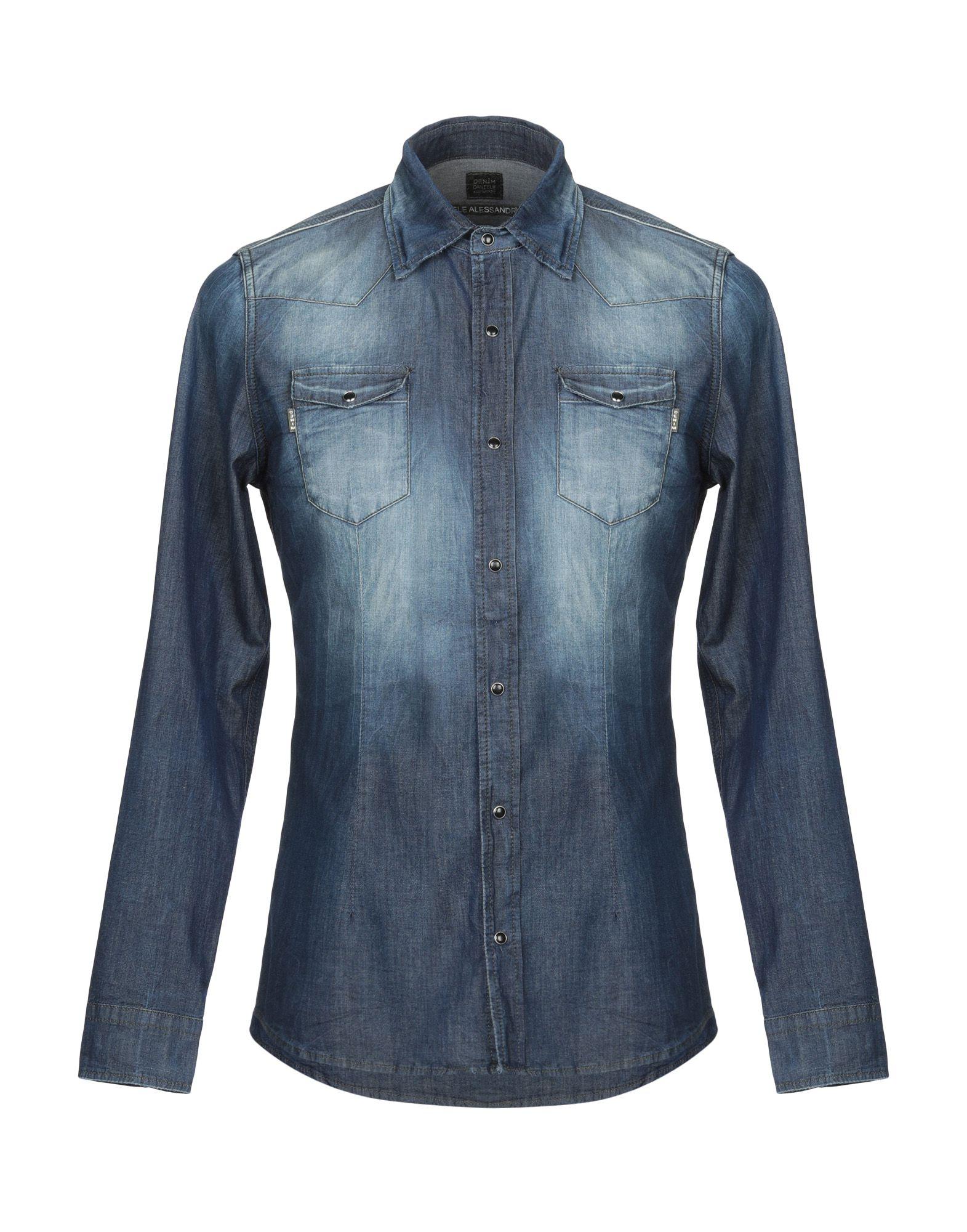 DANIELE ALESSANDRINI Джинсовая рубашка daniele alessandrini джинсовая рубашка