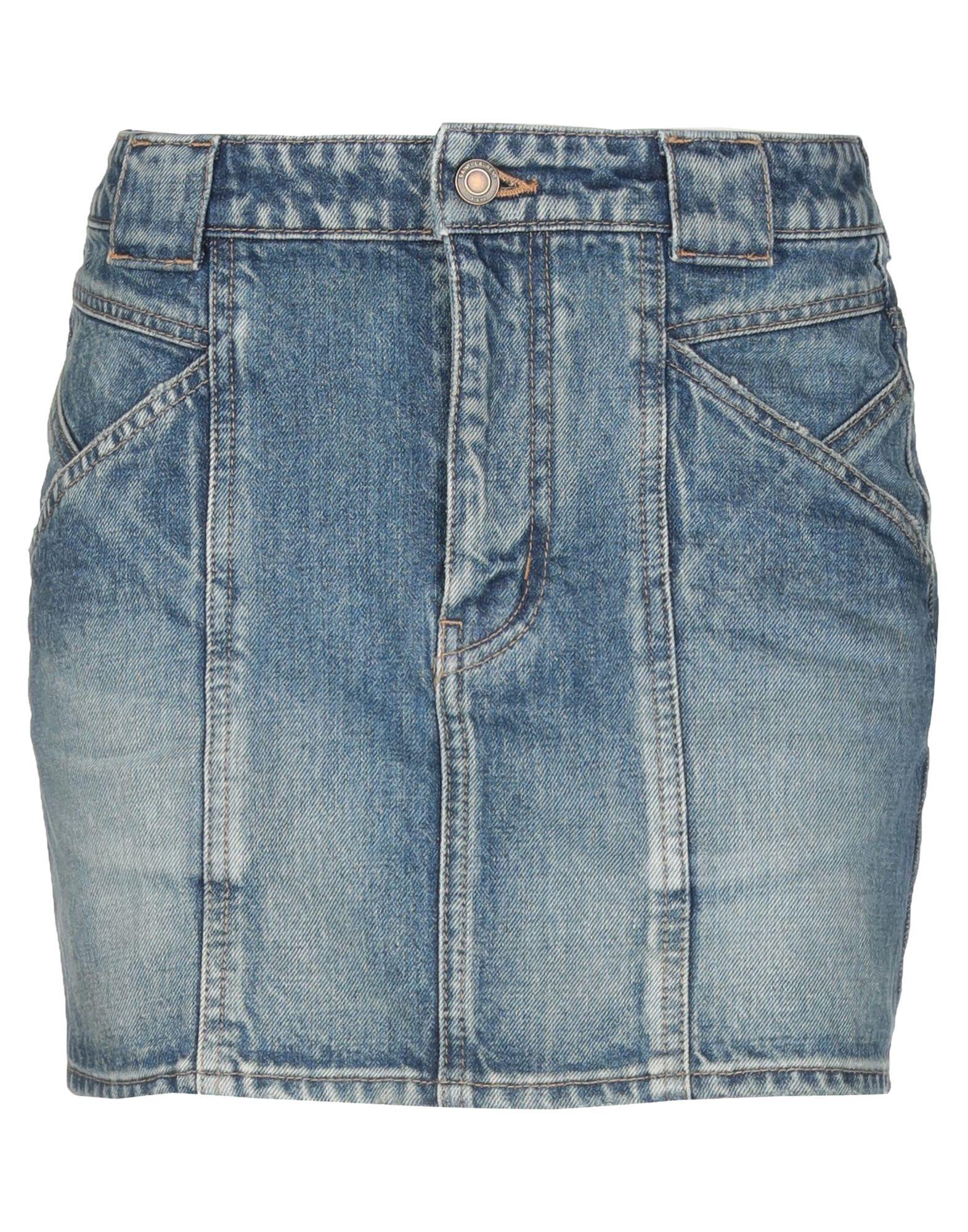 《送料無料》SAINT LAURENT レディース デニムスカート ブルー 25 コットン 100%