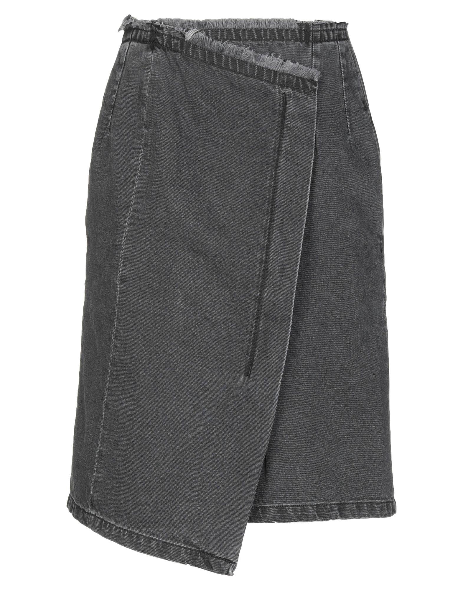 《セール開催中》COVERT レディース デニムスカート ブラック 38 コットン 100%