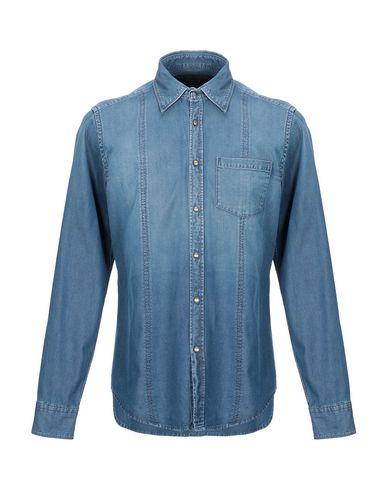 Фото - Джинсовая рубашка от NOHOW X MESSAGERIE синего цвета
