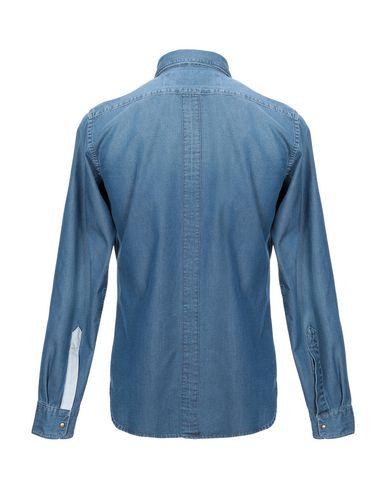 Фото 2 - Джинсовая рубашка от NOHOW X MESSAGERIE синего цвета