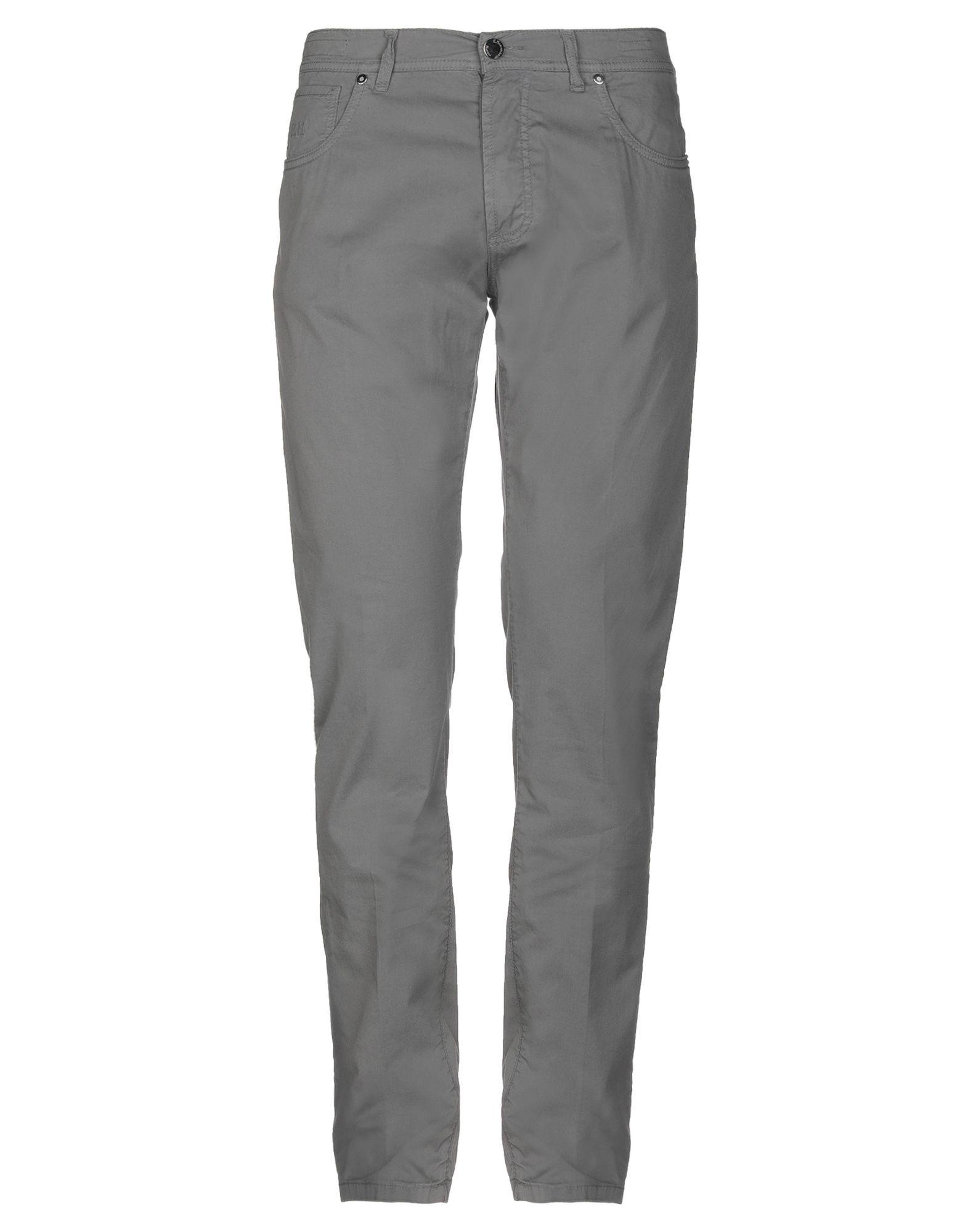 《セール開催中》E.MARINELLA メンズ パンツ グレー 36 98% コットン 2% ポリウレタン