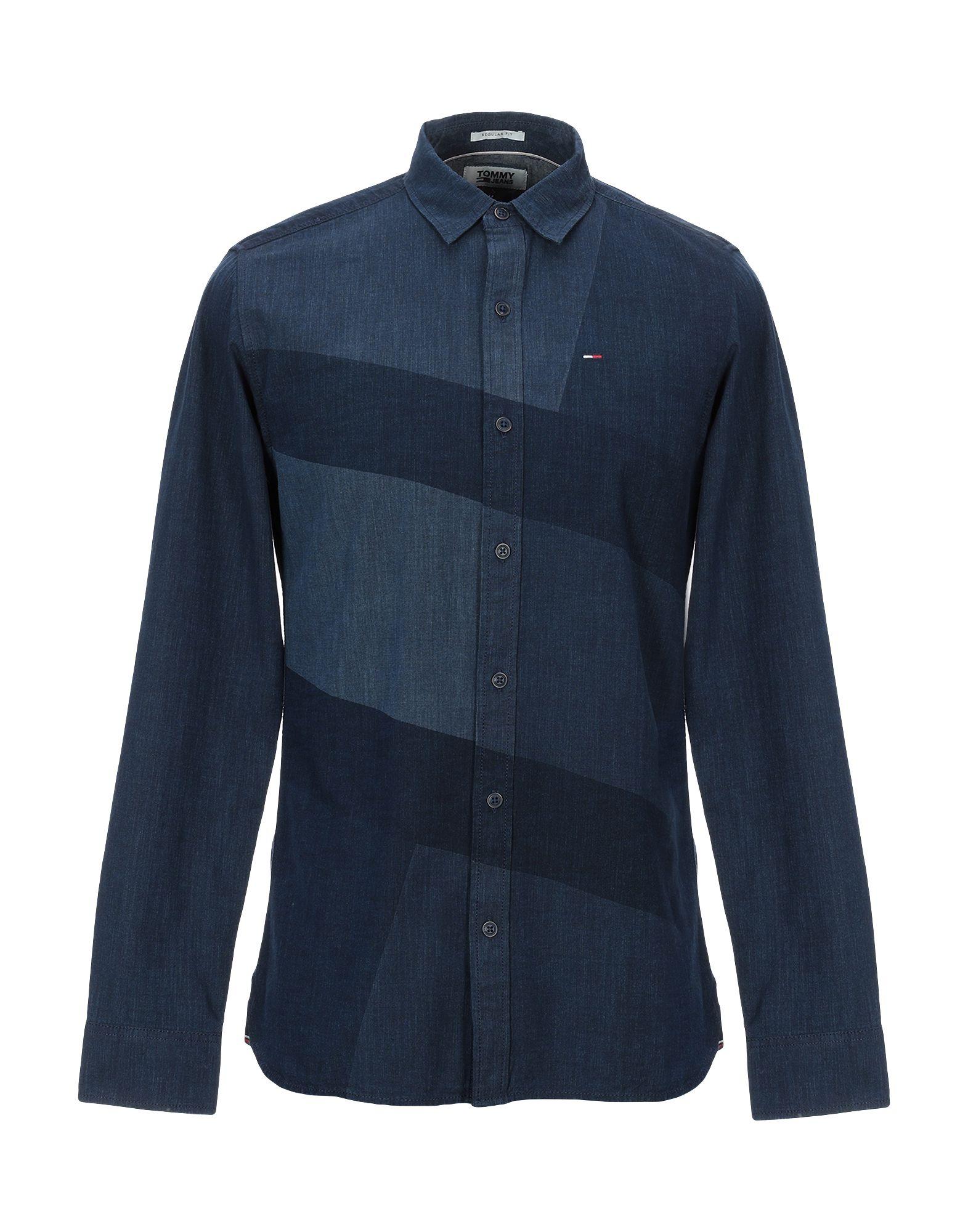Фото - TOMMY JEANS Джинсовая рубашка рубашка джинсовая tommy jeans tommy jeans to013emyzs77