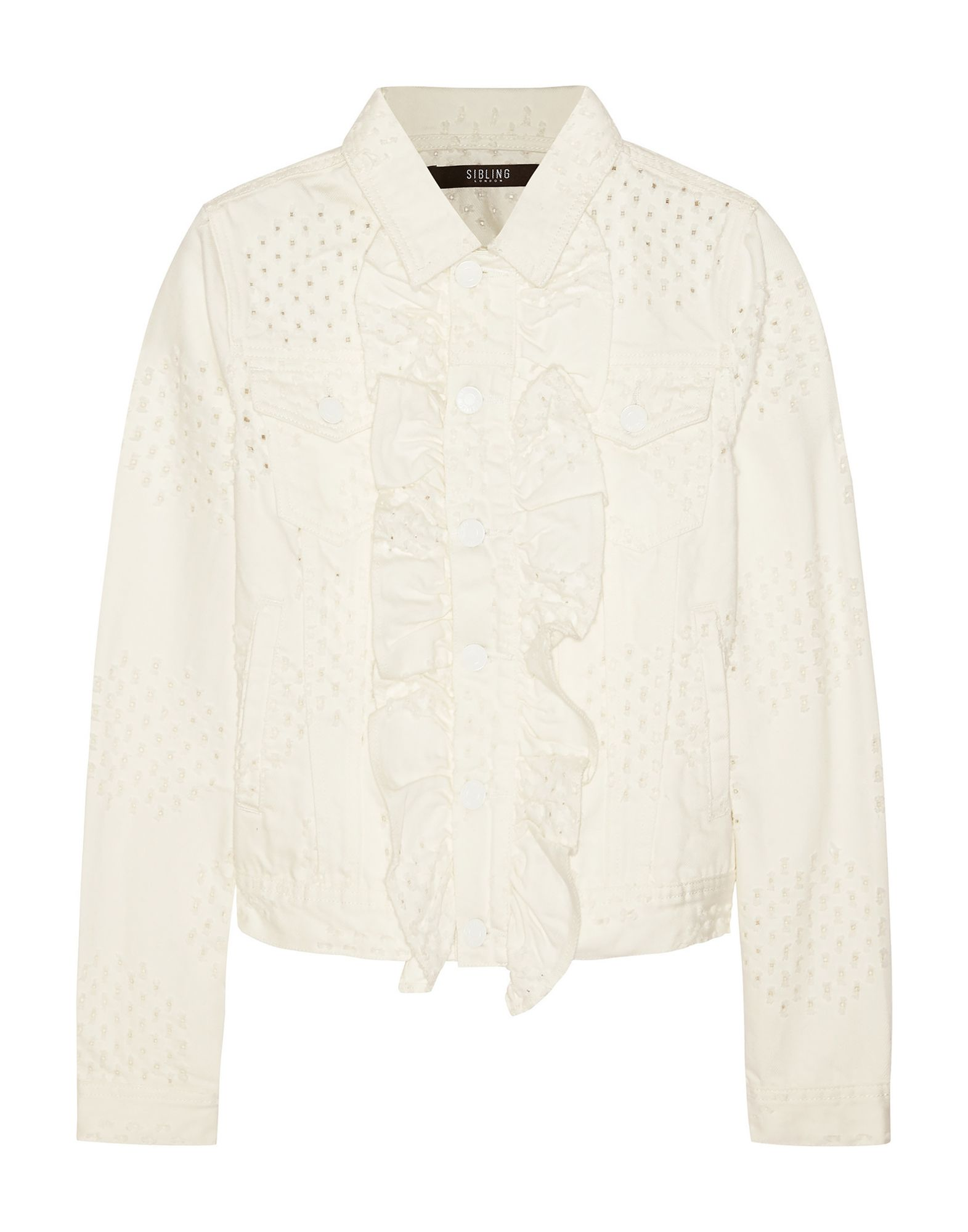 SIBLING Джинсовая верхняя одежда sibling свитер